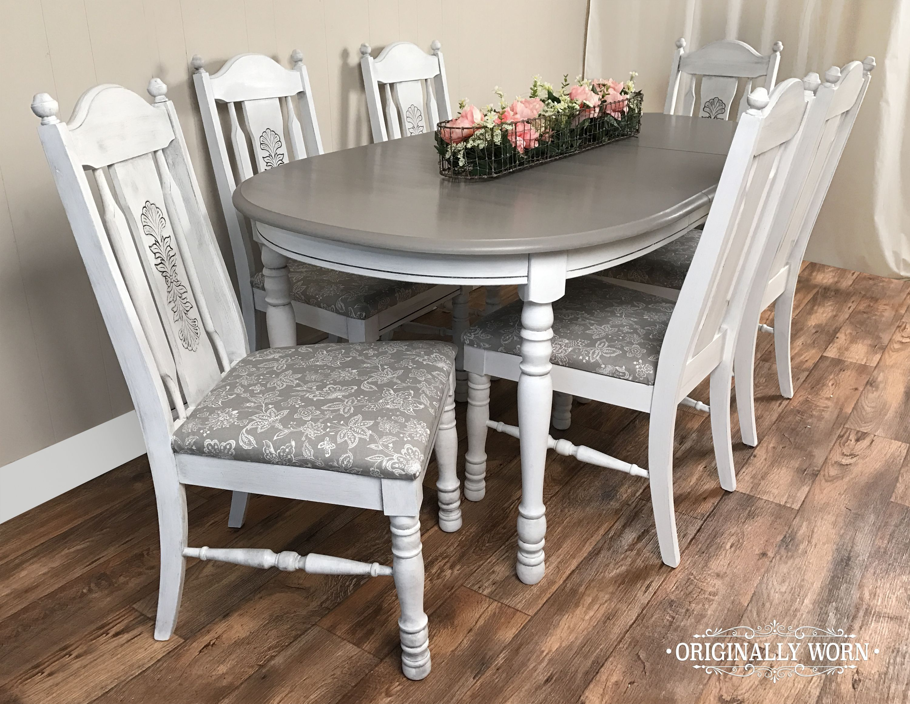 Newest Castellanos Modern 5 Piece Counter Height Dining Sets With 7 Piece Oval Dining Set In Annie Sloan Chalk Paint In Pure White And (View 18 of 20)