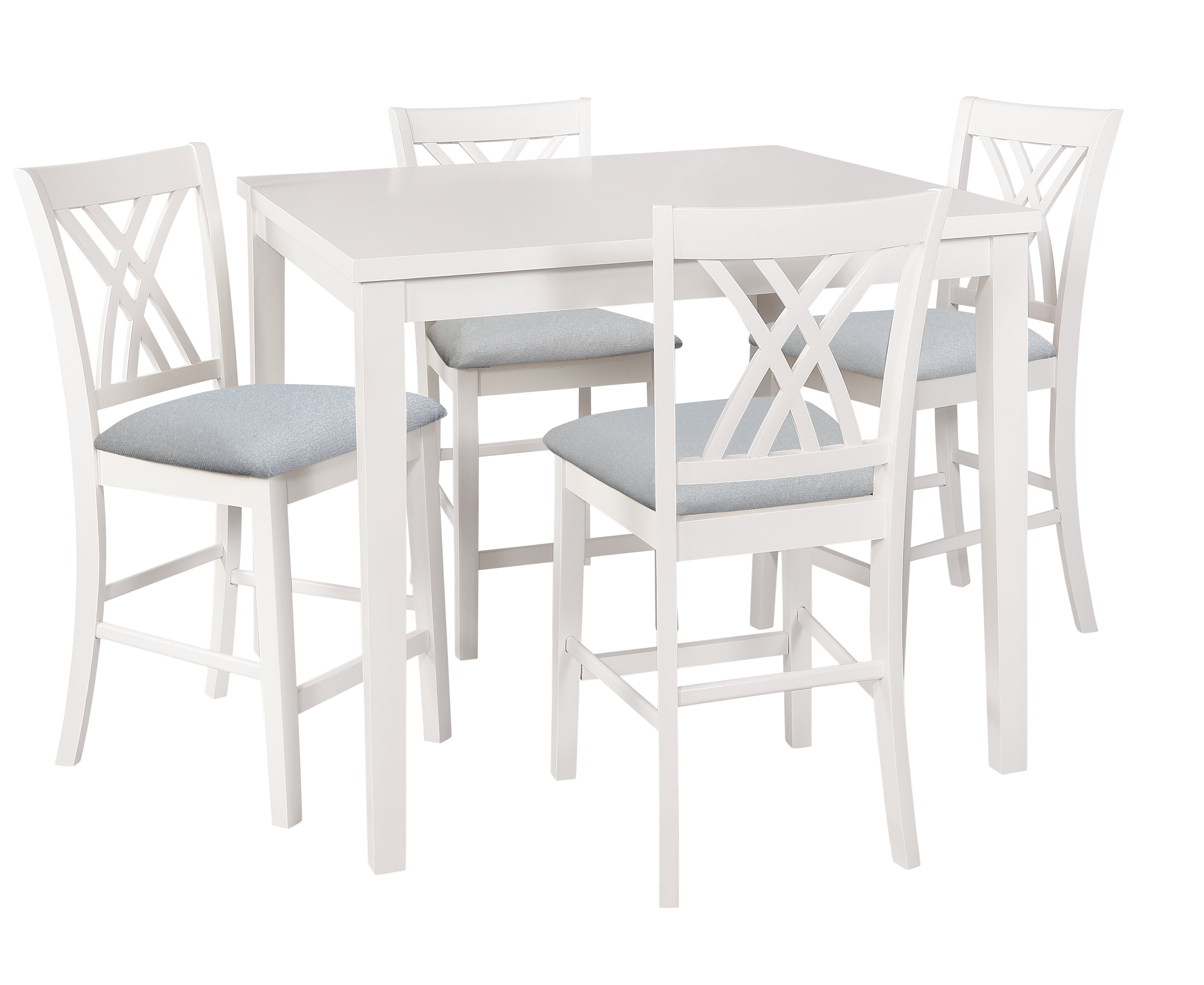 Newest Highland Dunes Gisella 5 Piece Breakfast Nook Dining Set & Reviews Pertaining To 5 Piece Breakfast Nook Dining Sets (#11 of 20)