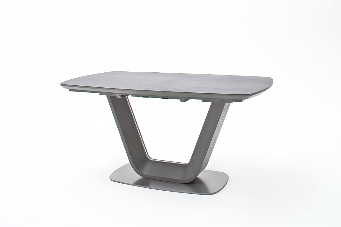 Newest Jarrod Grey And Anthracite Ceramic Extending Dining Table 160Cm With Regard To Jarrod 5 Piece Dining Sets (#15 of 20)