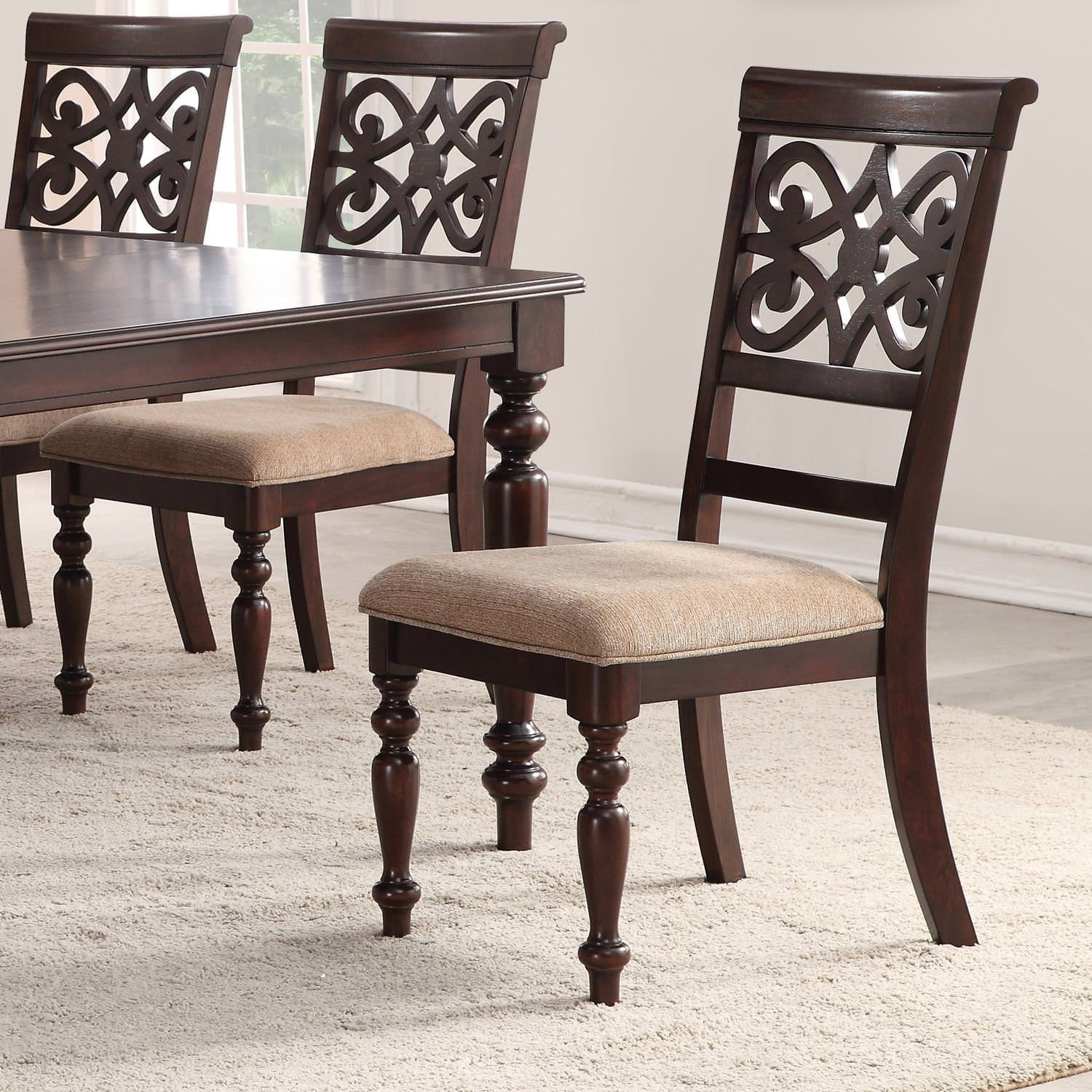 Newest Shop Home Source Laconia Walnut 5 Piece Dining Set – Free Shipping With Laconia 7 Pieces Solid Wood Dining Sets (Set Of 7) (#9 of 20)