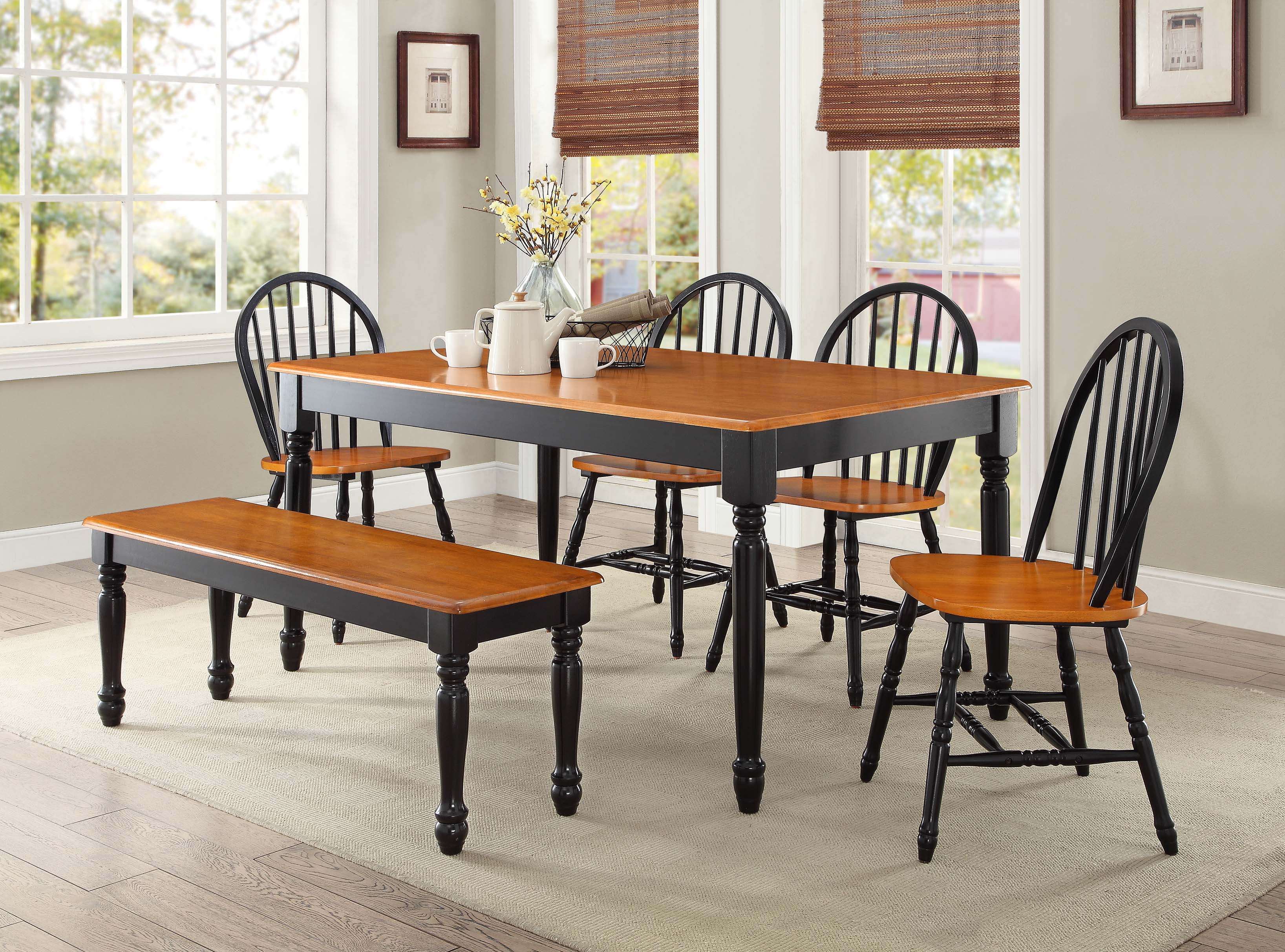 Northwoods 3 Piece Dining Sets In Popular Black Dinner Table Set & Black Dining Room Table U2013 Why You (#10 of 20)