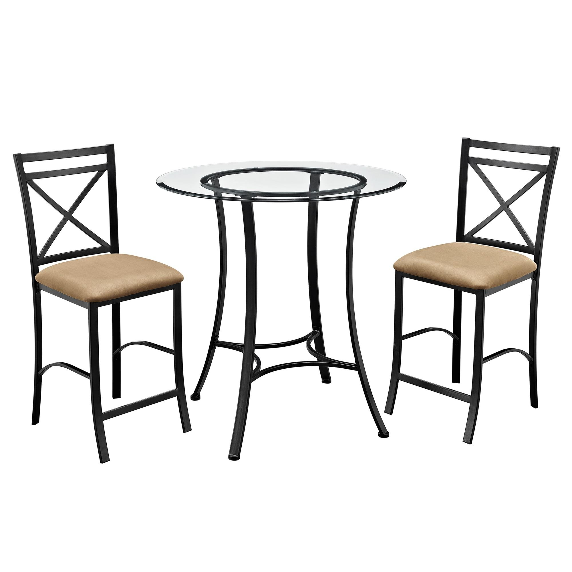 Nutter 3 Piece Dining Sets Pertaining To 2020 Saleh 3 Piece Dining Set & Reviews (#10 of 20)