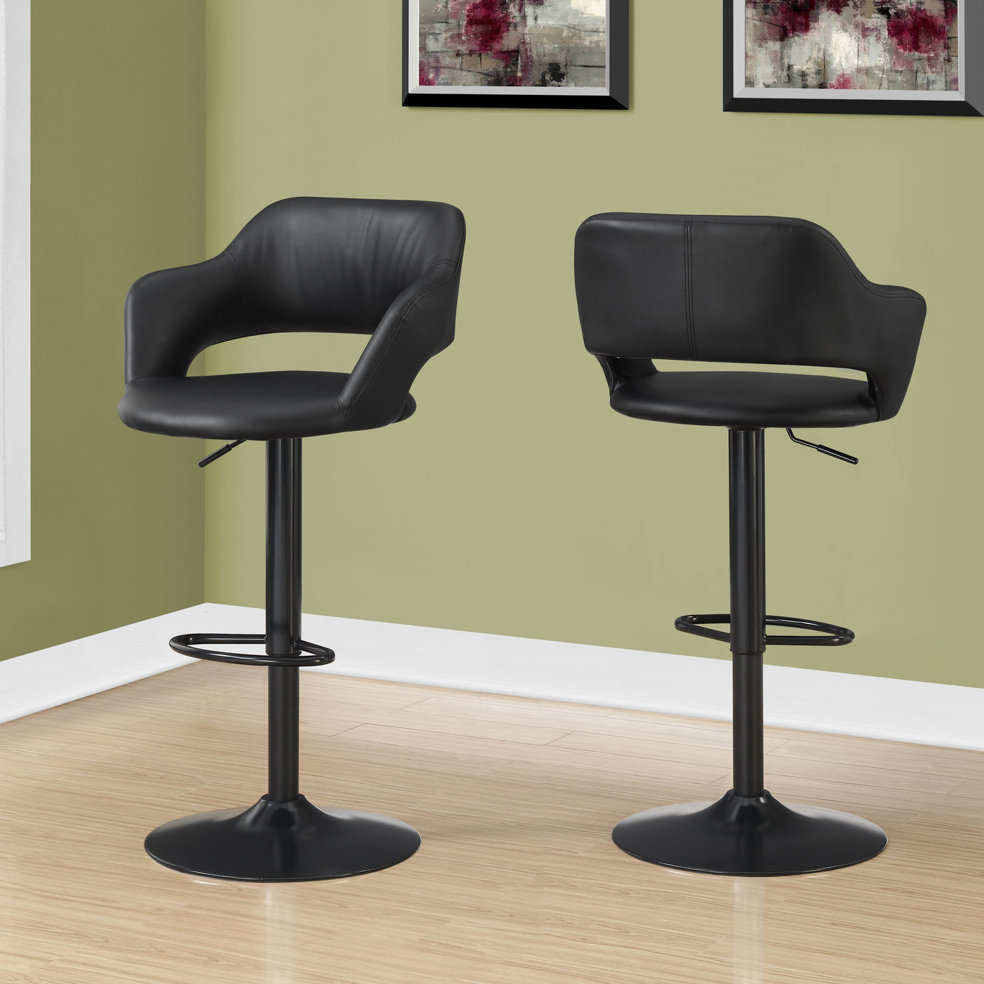 Orren Ellis Iva Adjustable Height Swivel Bar Stool & Reviews Intended For Preferred Rarick 5 Piece Solid Wood Dining Sets (Set Of 5) (View 8 of 20)