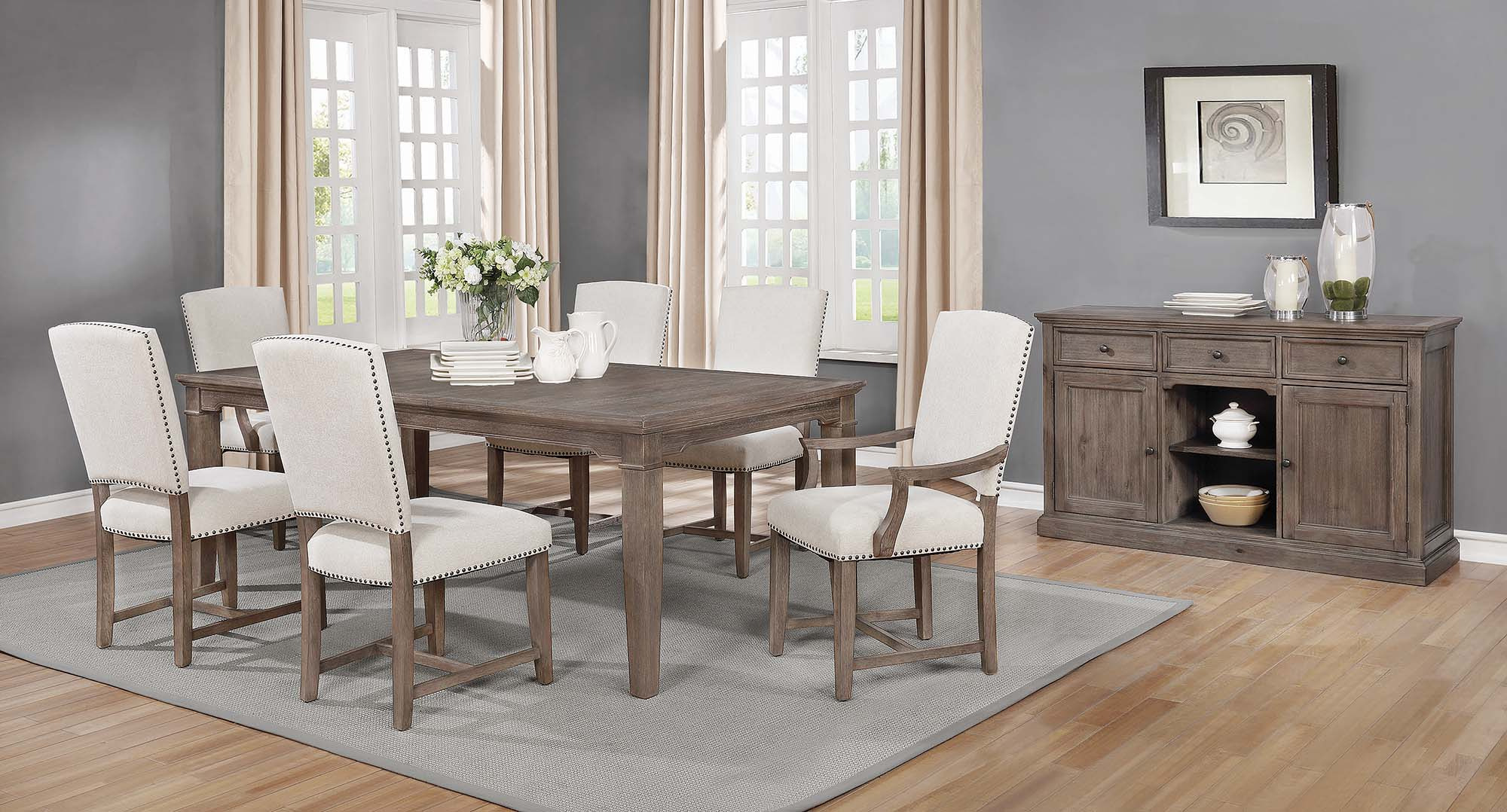 Penelope 7 Piece Dining Set Island Khaki And Rice Grey – $ (#14 of 20)