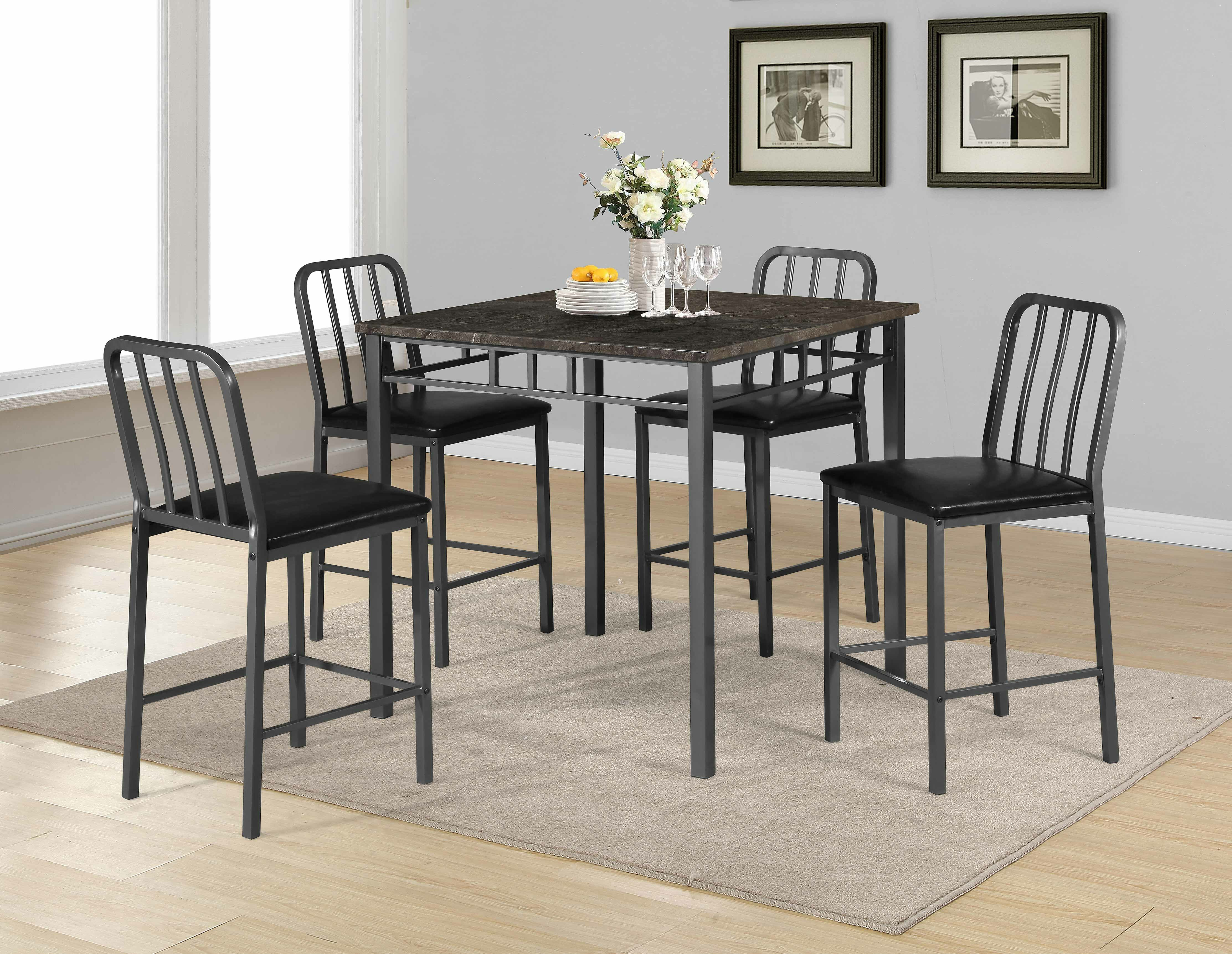 Popular 17 Stories Destiney 5 Piece Pub Table Set (#10 of 20)