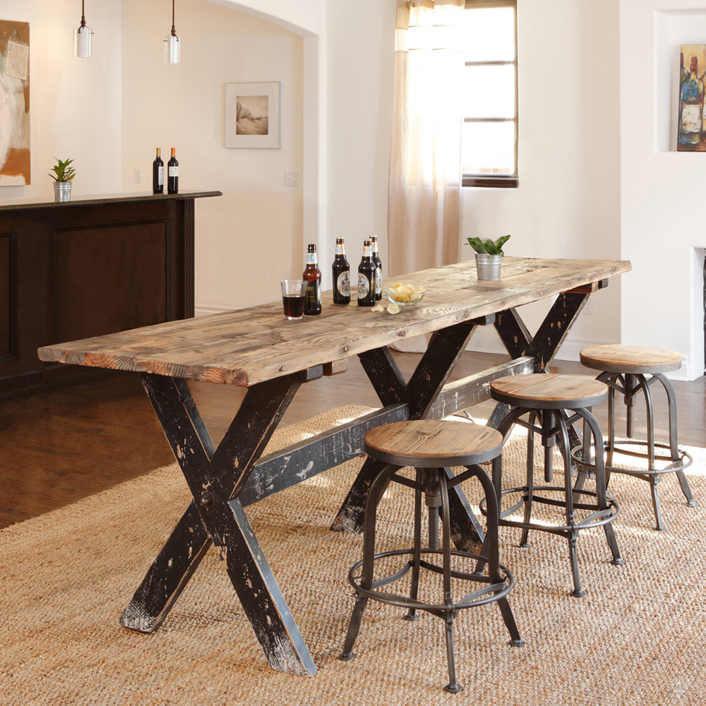 Popular Castellanos Modern 5 Piece Counter Height Dining Sets For Handcrafted Of Reclaimed Wood, This Rugged And Beautiful Gathering (View 2 of 20)