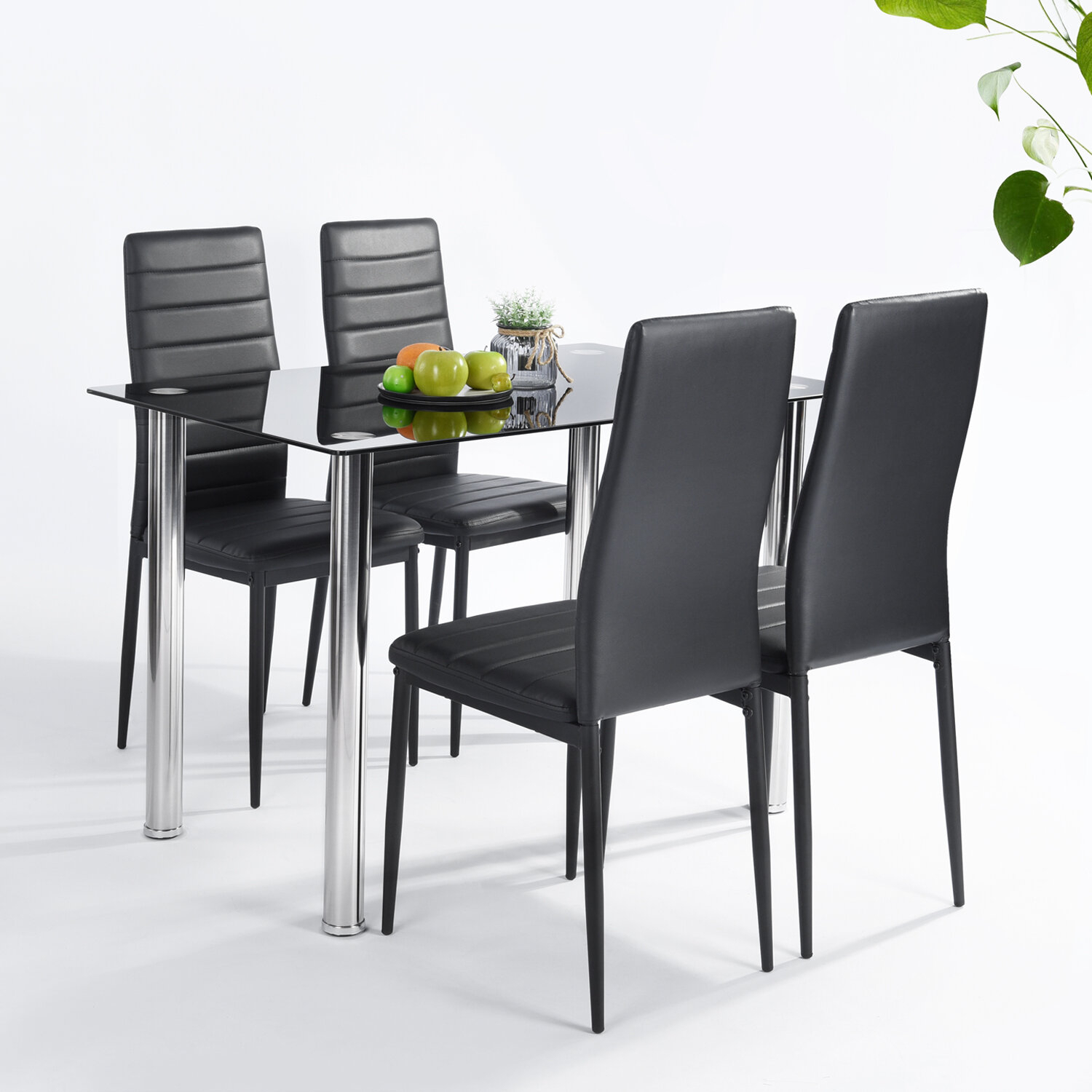 Inspiration about Popular Ebern Designs Lamotte 5 Piece Dining Set (#5 of 20)