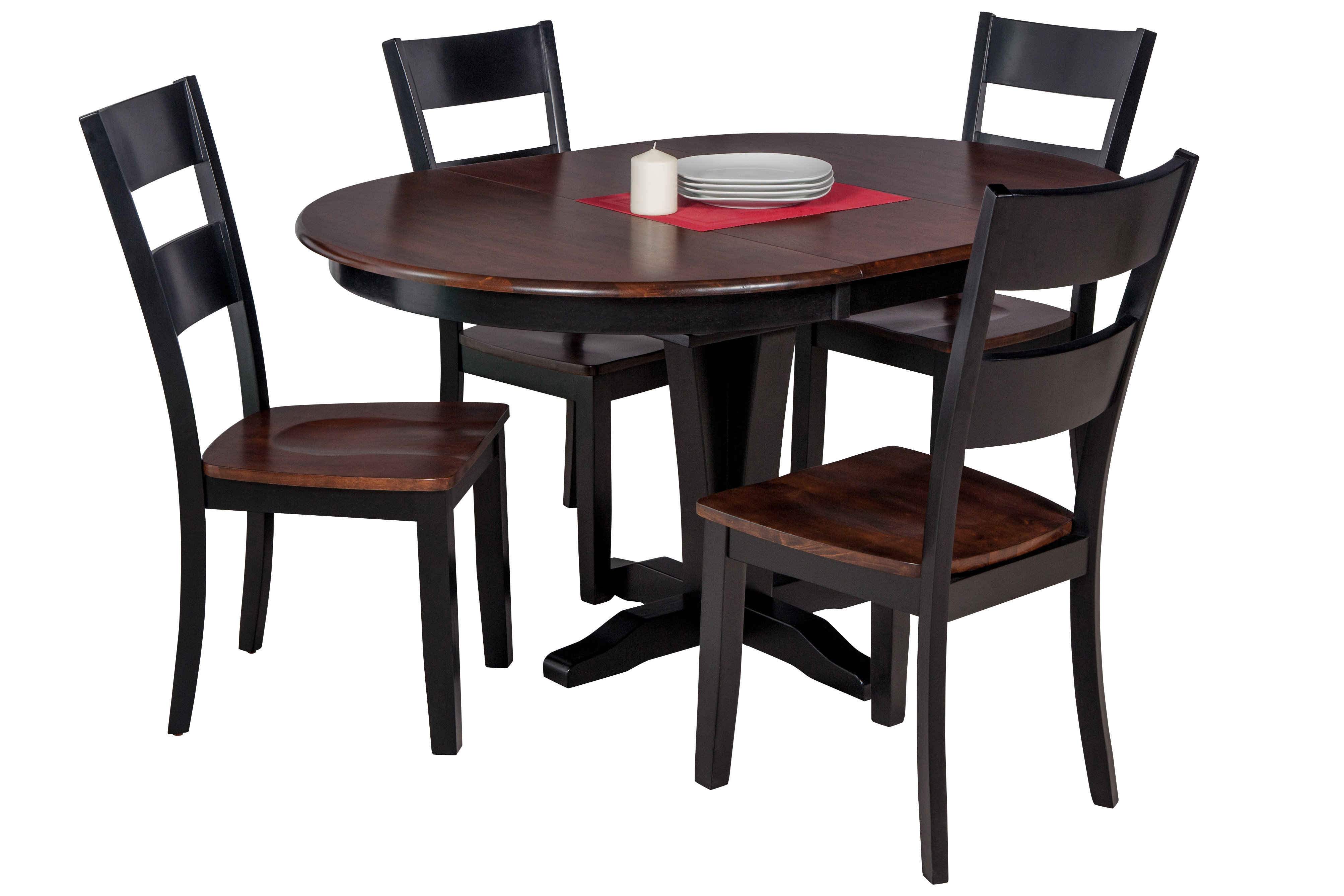 Inspiration about Popular Hanska Wooden 5 Piece Counter Height Dining Table Sets (Set Of 5) Throughout Darby Home Co Maryrose 5 Piece Solid Wood Dining Set With Butterfly (#5 of 20)