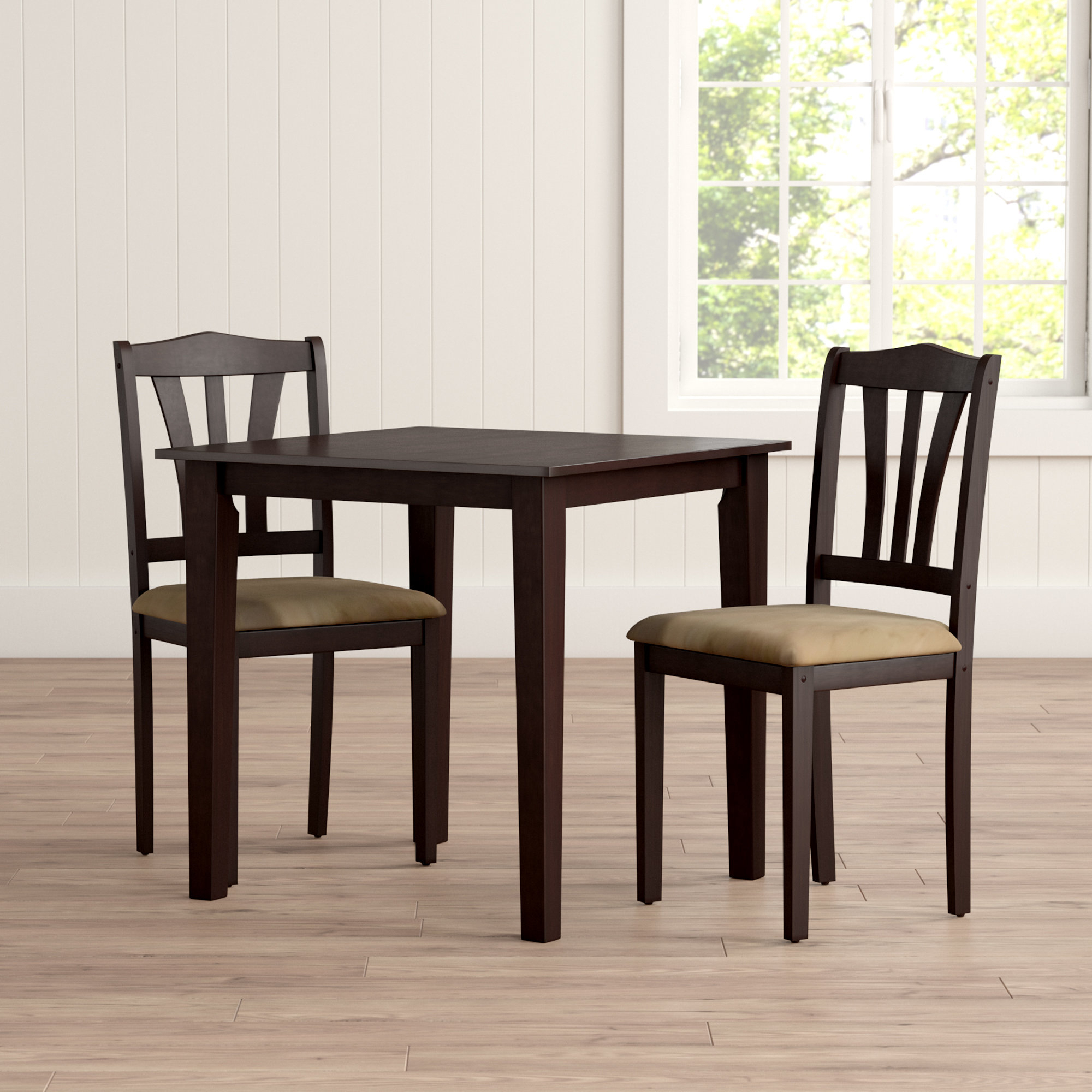 Popular Kinsler 3 Piece Bistro Sets Pertaining To Alcott Hill Dinah 3 Piece Dining Set & Reviews (#9 of 20)