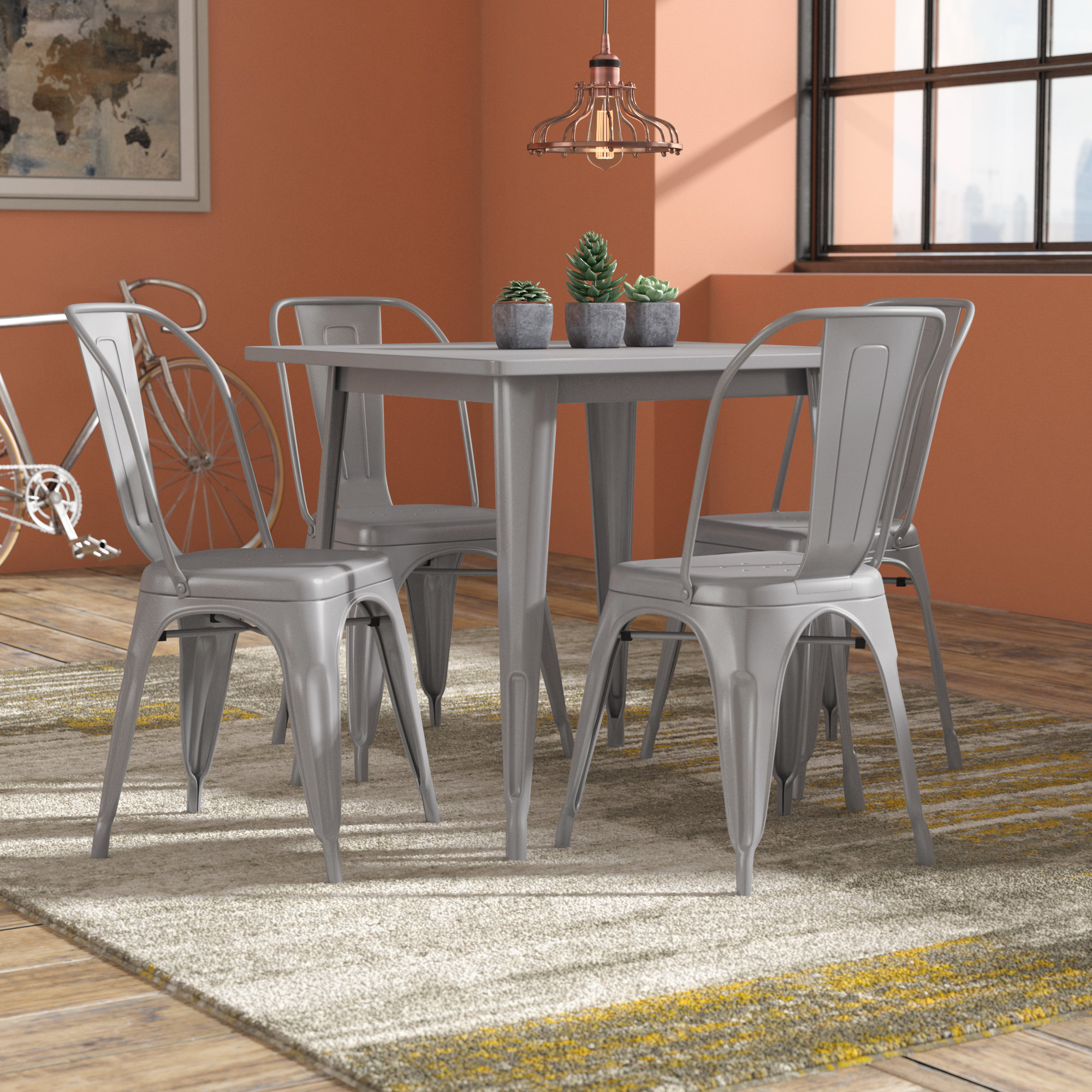 Inspiration about Popular Mulvey 5 Piece Dining Sets In Williston Forge Betsey 5 Piece Dining Set & Reviews (#10 of 20)