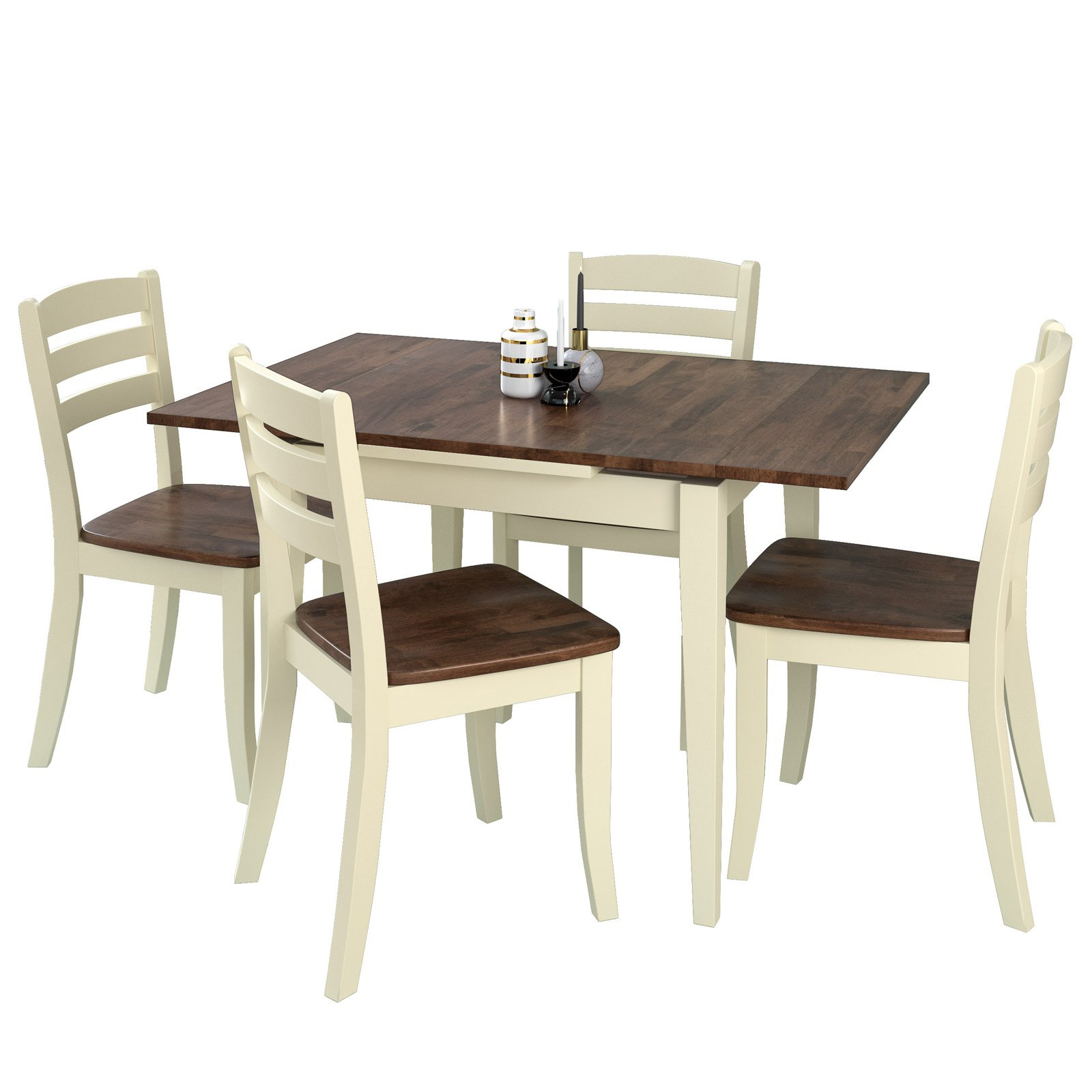 Popular Smyrna 3 Piece Dining Sets Pertaining To Corliving Dillon 5 Piece Rectangular Extendable Dining Set (View 17 of 20)