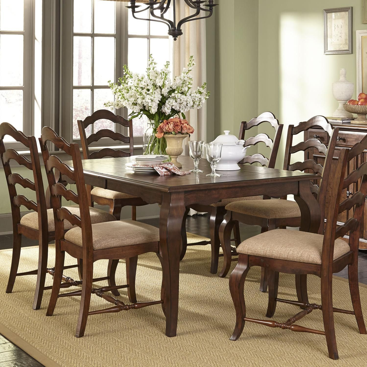 Popular Woodland Creek 7 Piece Dining Table And Chairs Setliberty Regarding Kieffer 5 Piece Dining Sets (View 15 of 20)