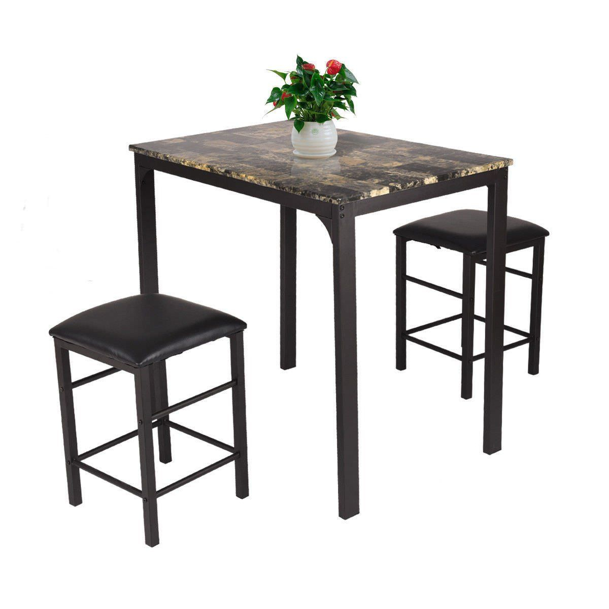 Preferred 5 Piece Percie Industrial Counter Height Dining Set Oak/black In Kerley 4 Piece Dining Sets (#16 of 20)