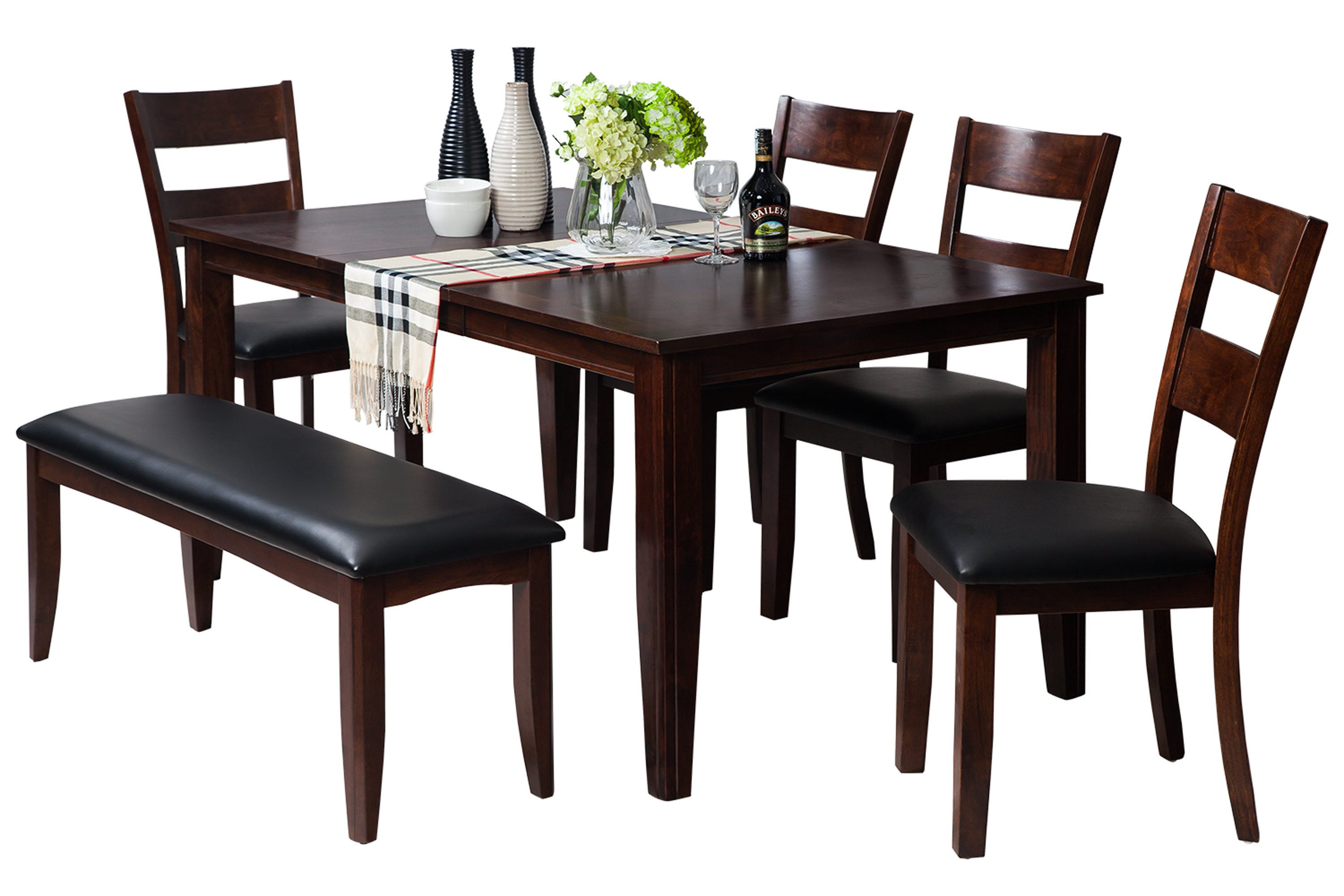Preferred Adan 5 Piece Solid Wood Dining Sets (Set Of 5) Pertaining To Ttpfurnish Aden 6 Piece Solid Wood Dining Set (#12 of 20)