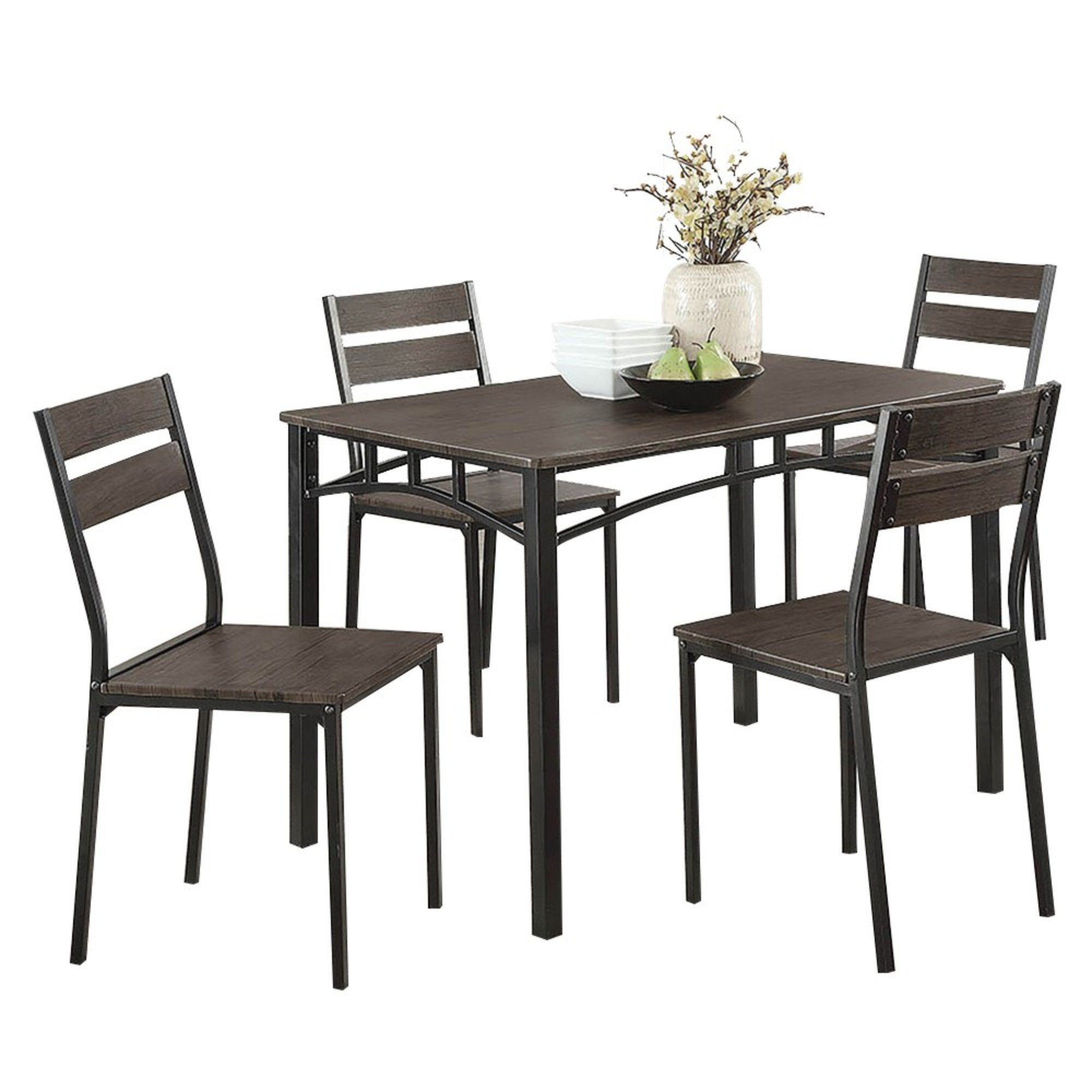 Preferred Maynard 5 Piece Dining Sets For Union Rustic Brodhead Wooden 5 Piece Counter Height Dining Table Set (#16 of 20)