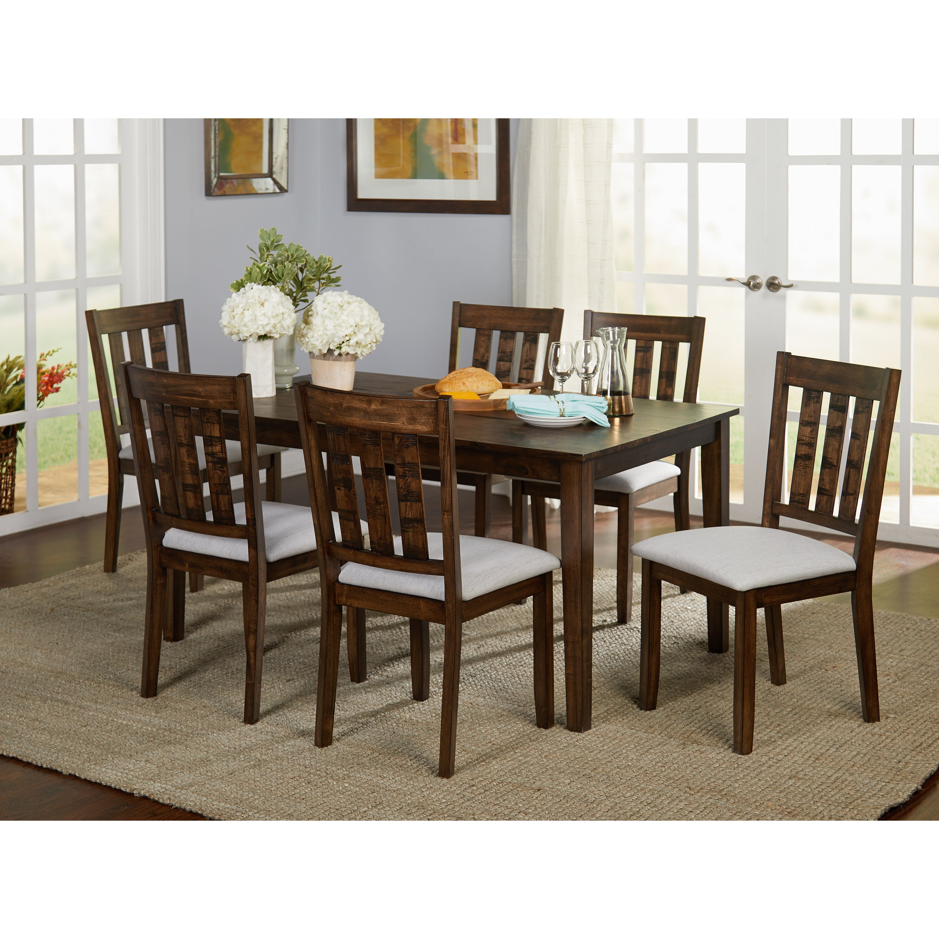 Preferred Springfield 3 Piece Dining Sets Throughout Buy Farmhouse Kitchen & Dining Room Tables Online At Overstock (#10 of 20)