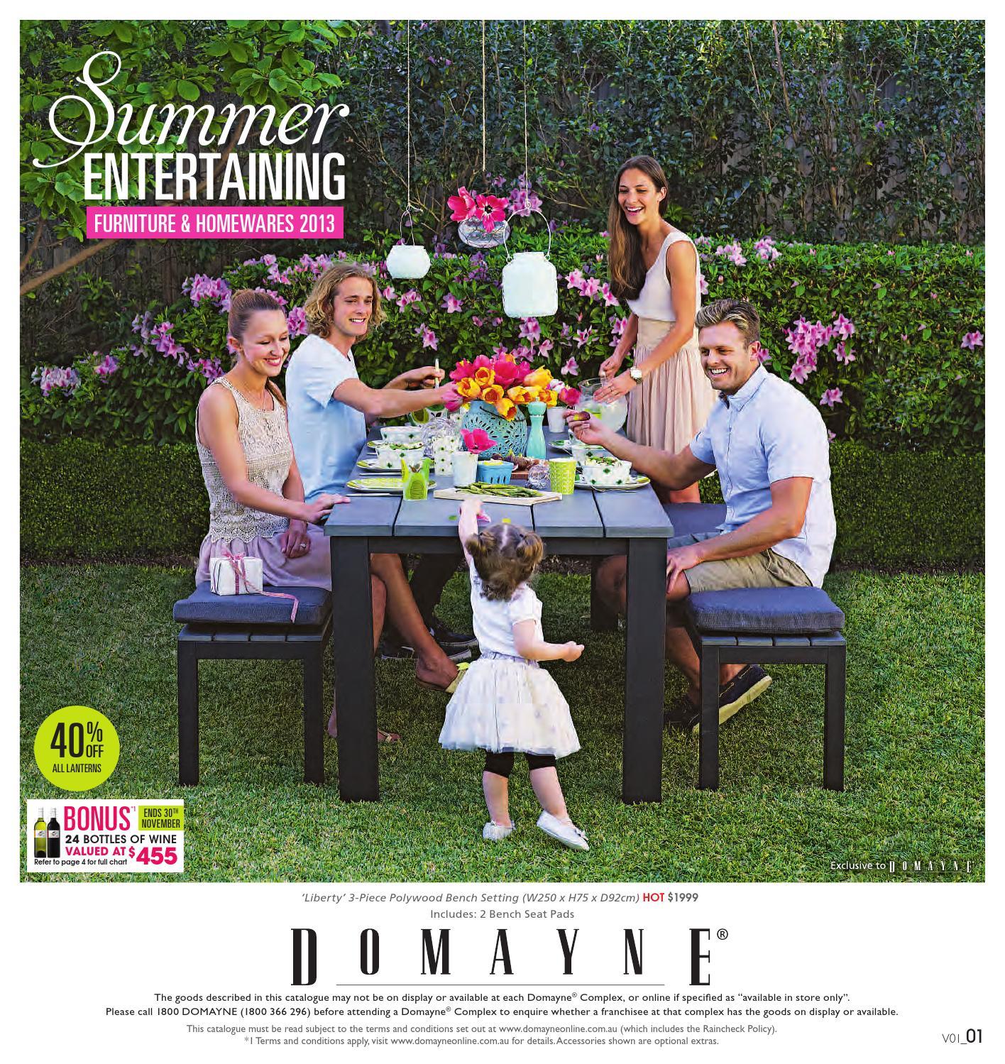 Preferred Wallflower 3 Piece Dining Sets Regarding Summer Entertaining Cataloguedomayne – Issuu (View 12 of 20)