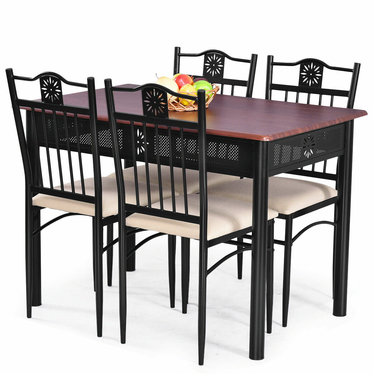 Preferred Winston Porter Ganya 5 Piece Dining Set & Reviews (#11 of 20)