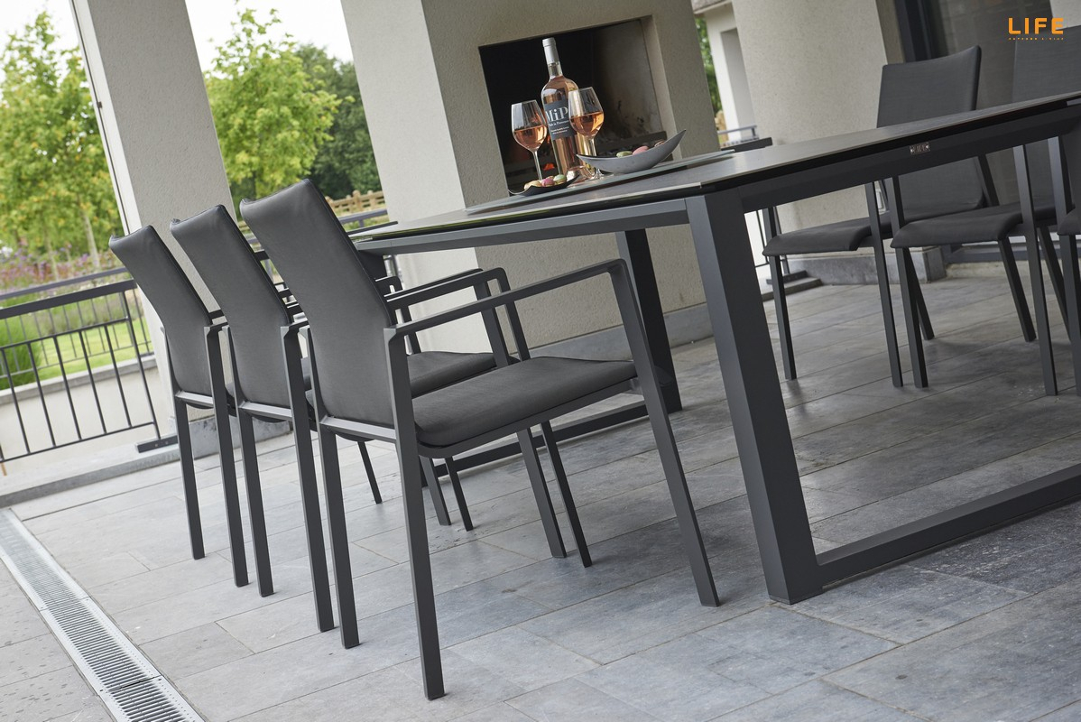 Inspiration about Primavera Dining Lava – Life Outdoor Living For Popular Osterman 6 Piece Extendable Dining Sets (Set Of 6) (#13 of 20)