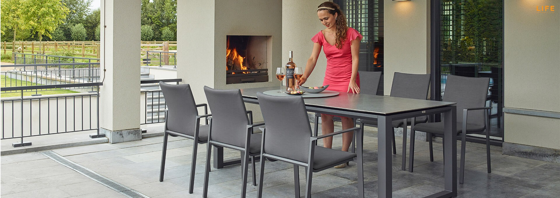 Inspiration about Primavera Dining Lava – Life Outdoor Living For Popular Osterman 6 Piece Extendable Dining Sets (Set Of 6) (#11 of 20)