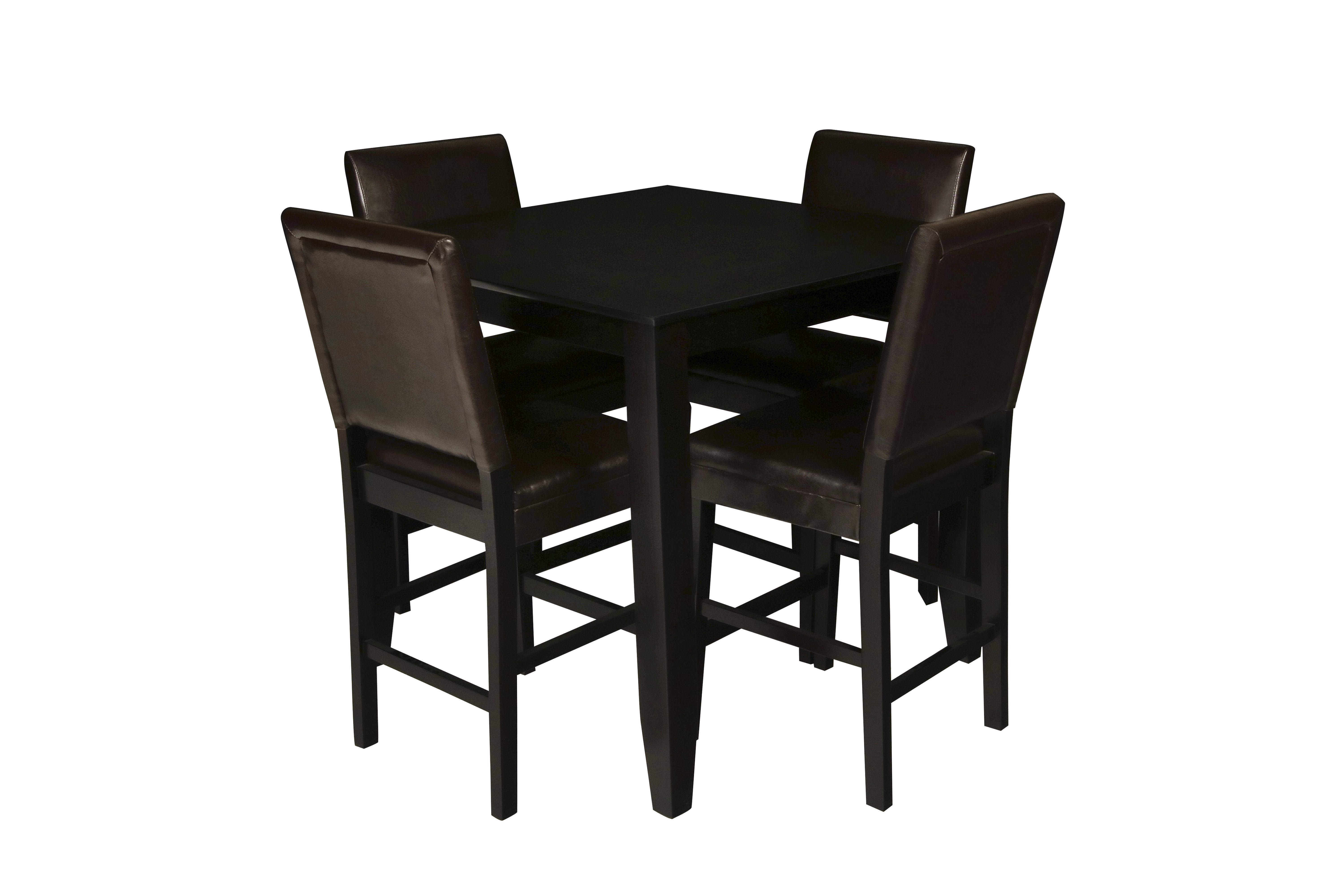 Inspiration about Recent August Grove Isai 5 Piece Counter Height Dining Table Set (#11 of 20)
