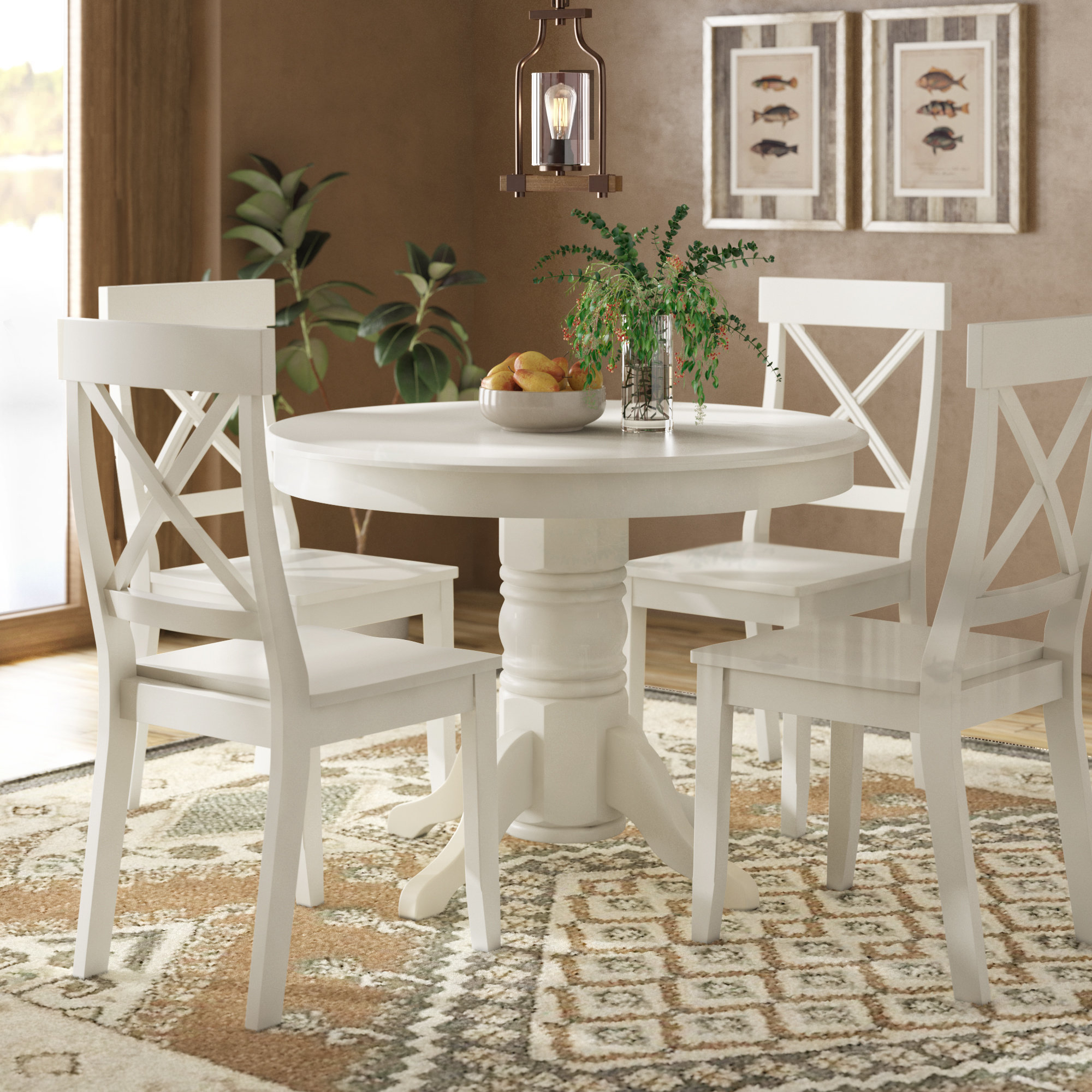 Inspiration about Recent August Grove Standridge 5 Piece Dining Set & Reviews (#17 of 20)
