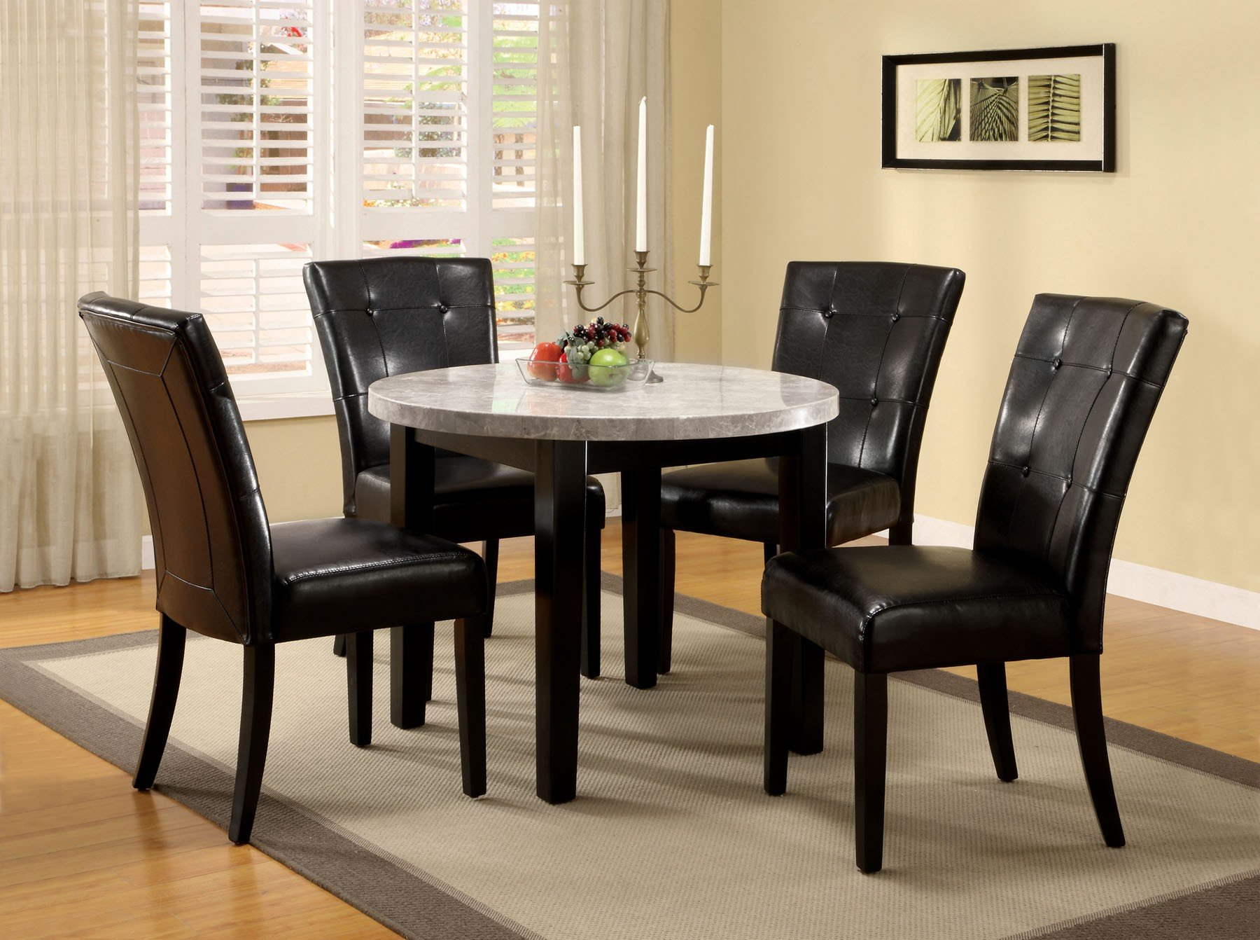 Inspiration about Recent Biggs 5 Piece Counter Height Solid Wood Dining Sets (Set Of 5) Within Minster 5 Piece Dining Set (#8 of 20)