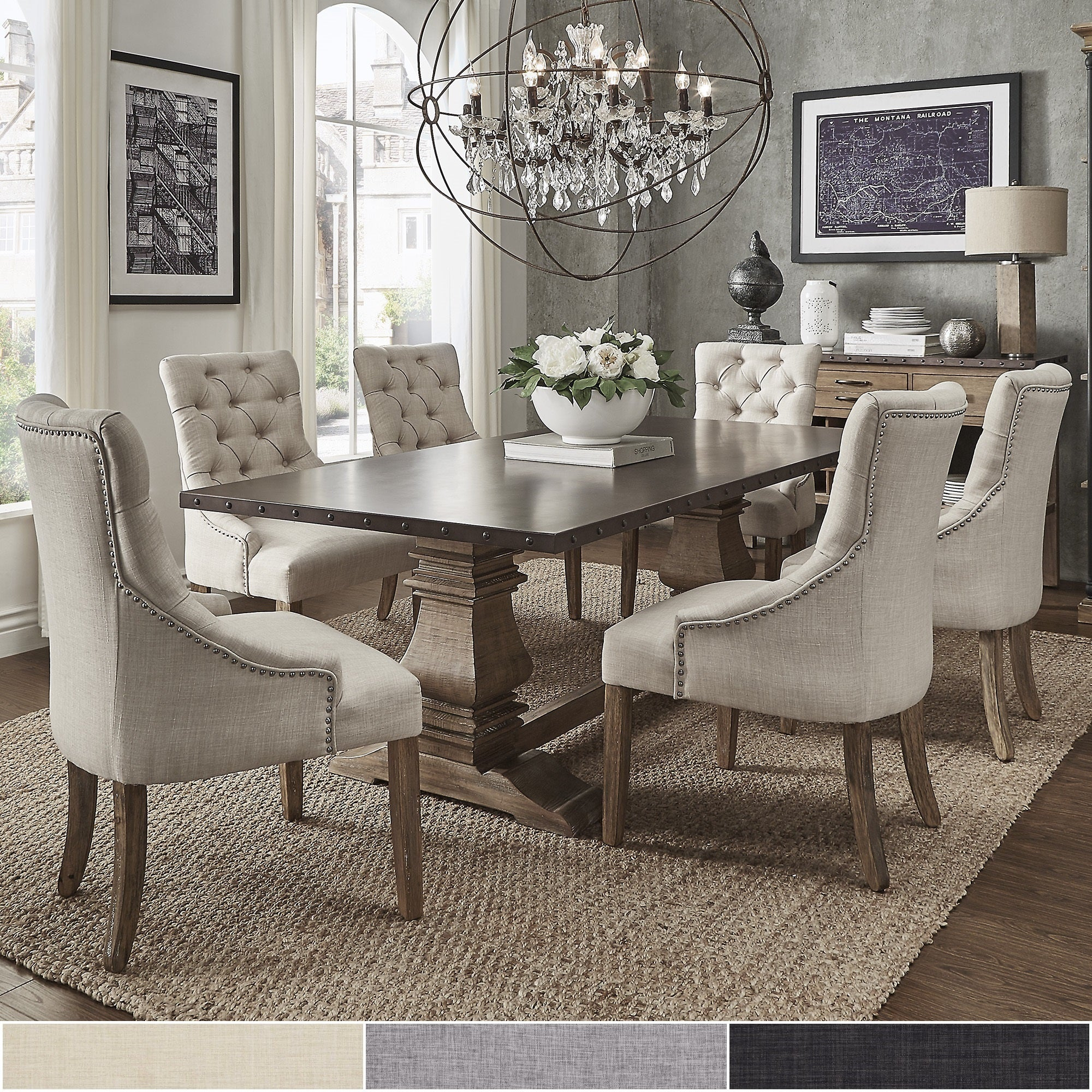 Recent Falmer 3 Piece Solid Wood Dining Sets For Buy Farmhouse Kitchen & Dining Room Sets Online At Overstock (View 6 of 20)