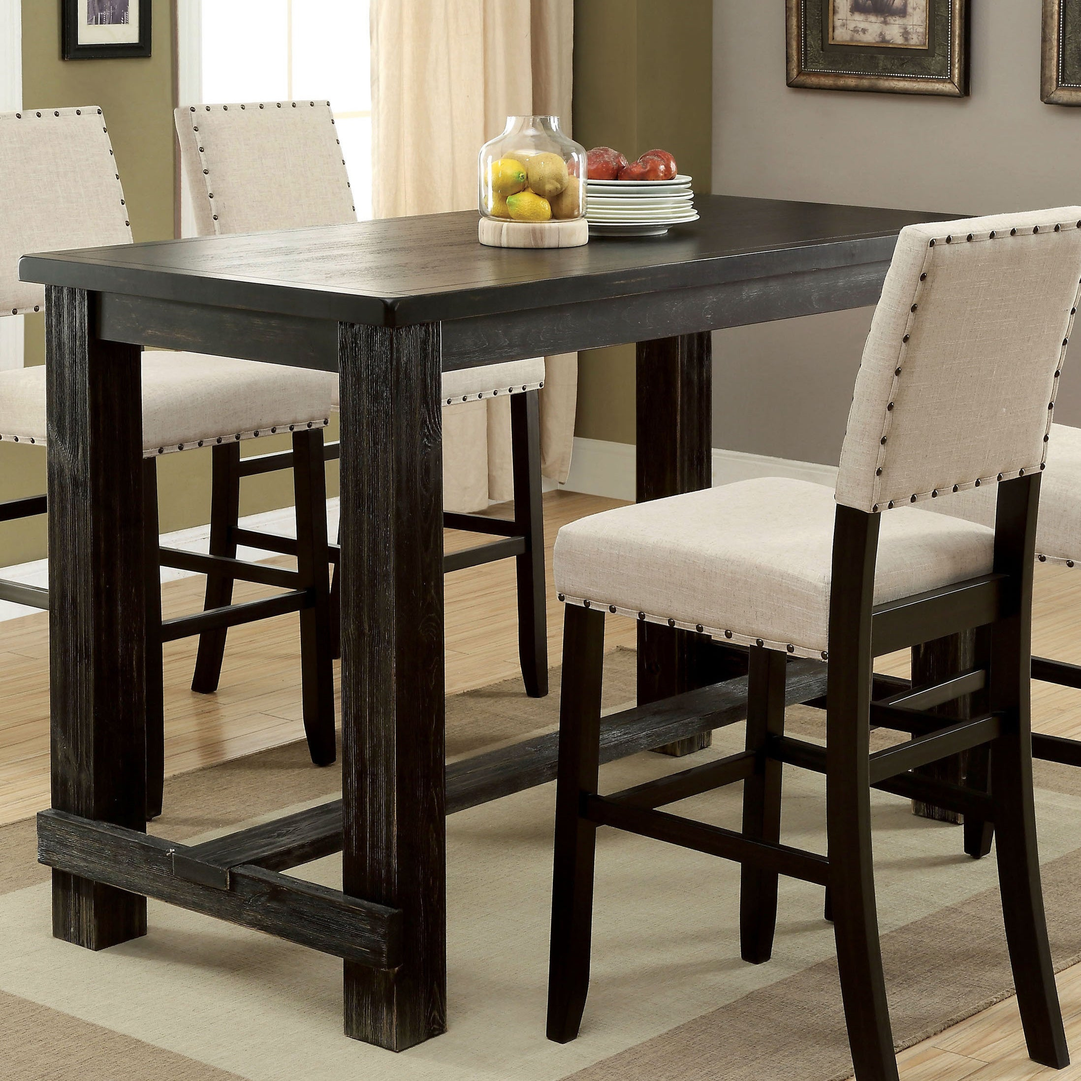 Recent Kaya 3 Piece Dining Sets Throughout Buy Bar & Pub Tables Online At Overstock (View 15 of 20)