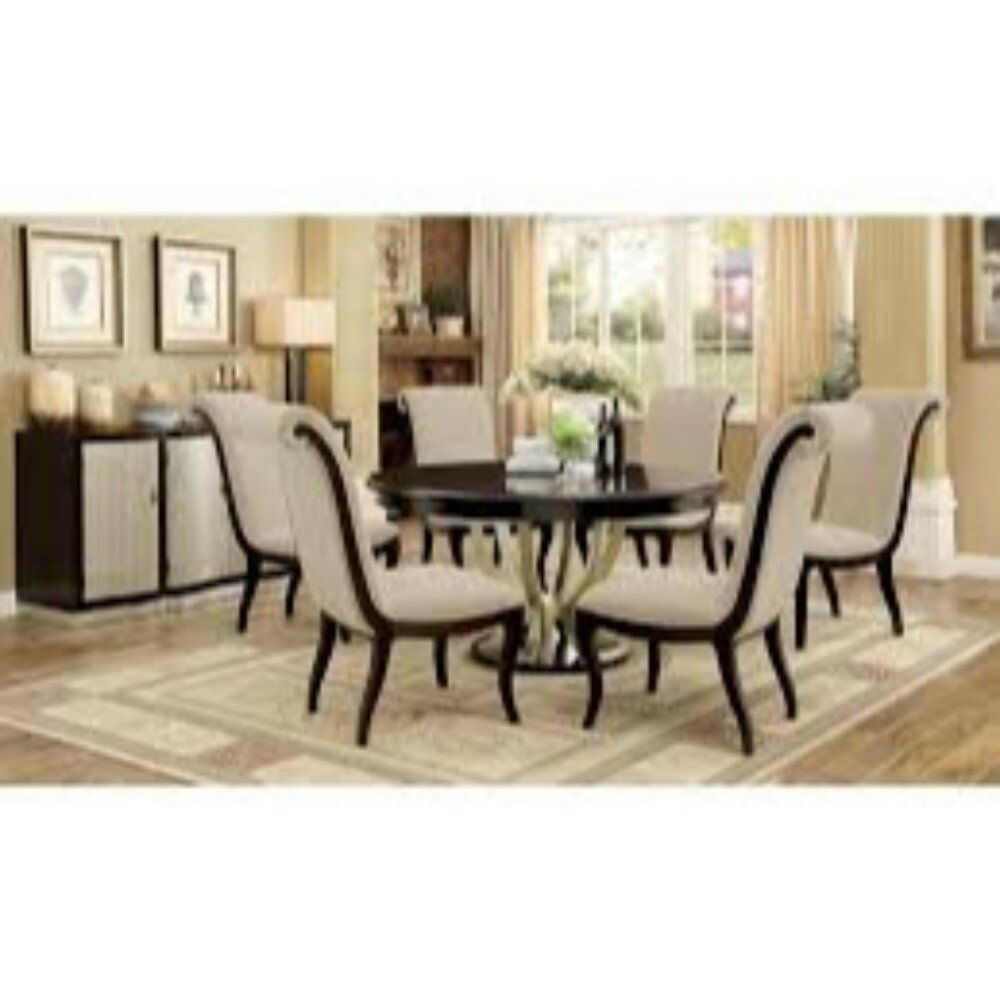 Recent Laconia 7 Pieces Solid Wood Dining Sets (Set Of 7) With Winston Porter Moreno Contemporary 7 Piece Extendable Solid Wood (#11 of 20)