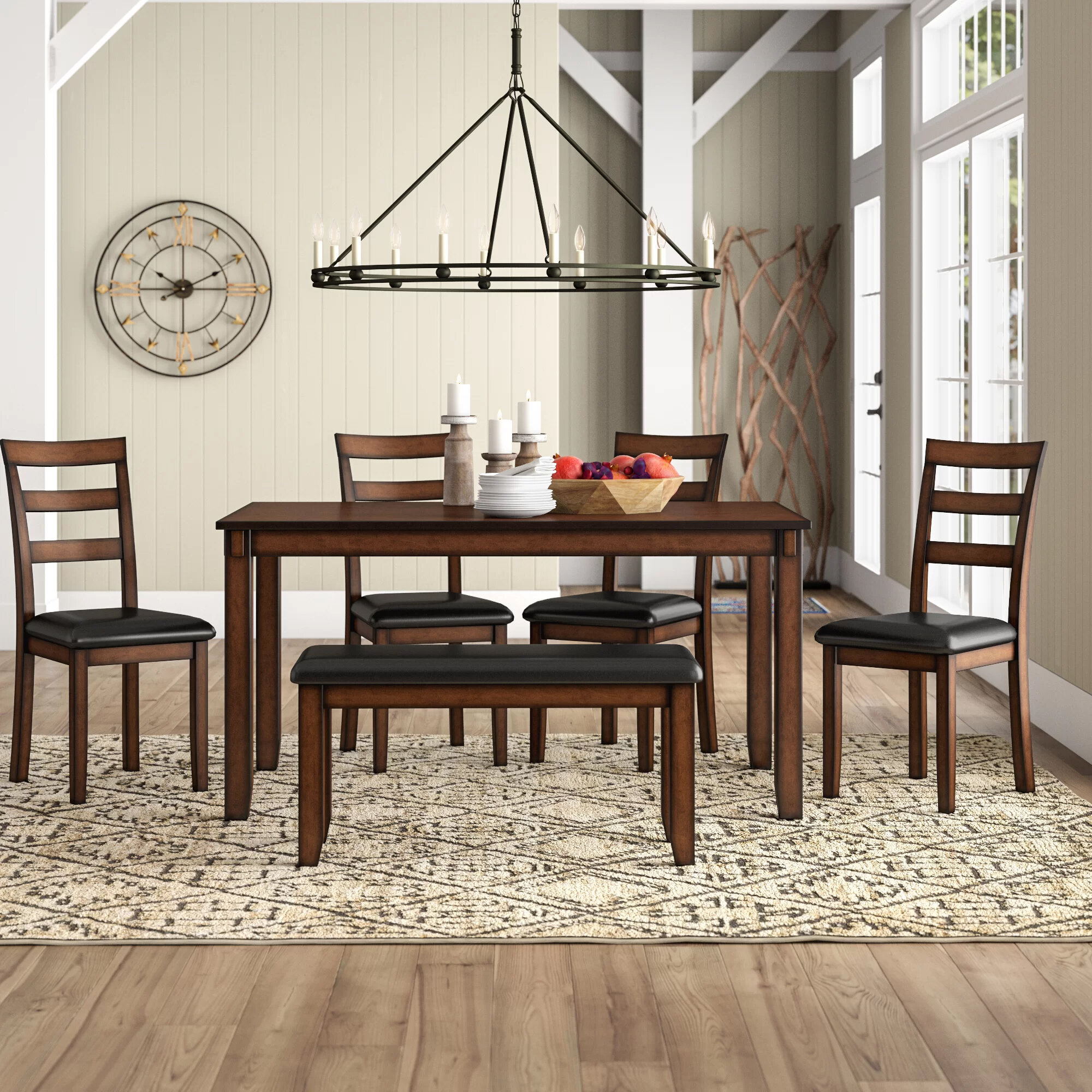 Inspiration about Recent Millwood Pines Carolina 6 Piece Dining Set (#11 of 20)