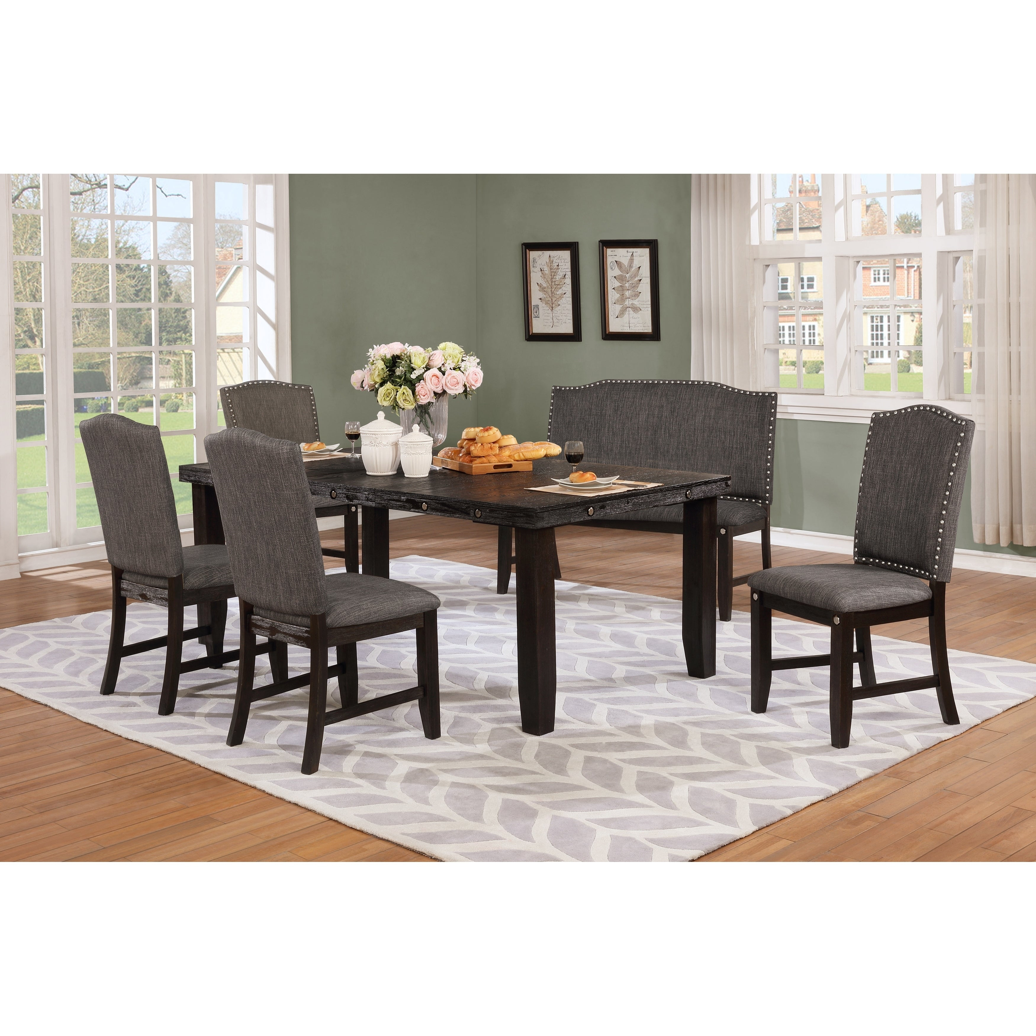 Recent Osterman 6 Piece Extendable Dining Sets (Set Of 6) Within Buy 6 Piece Sets Kitchen & Dining Room Sets Online At Overstock (#17 of 20)