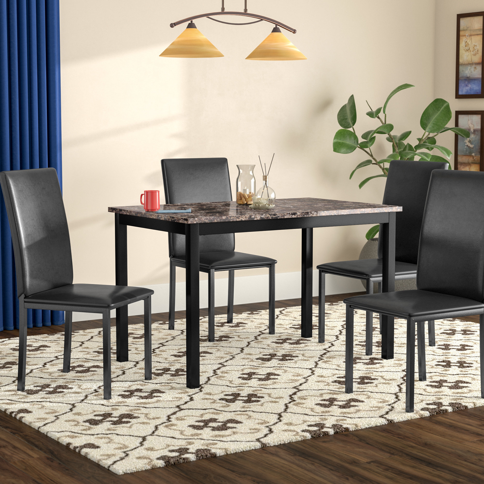 Inspiration about Recent Red Barrel Studio Noyes 5 Piece Dining Set & Reviews (#9 of 20)