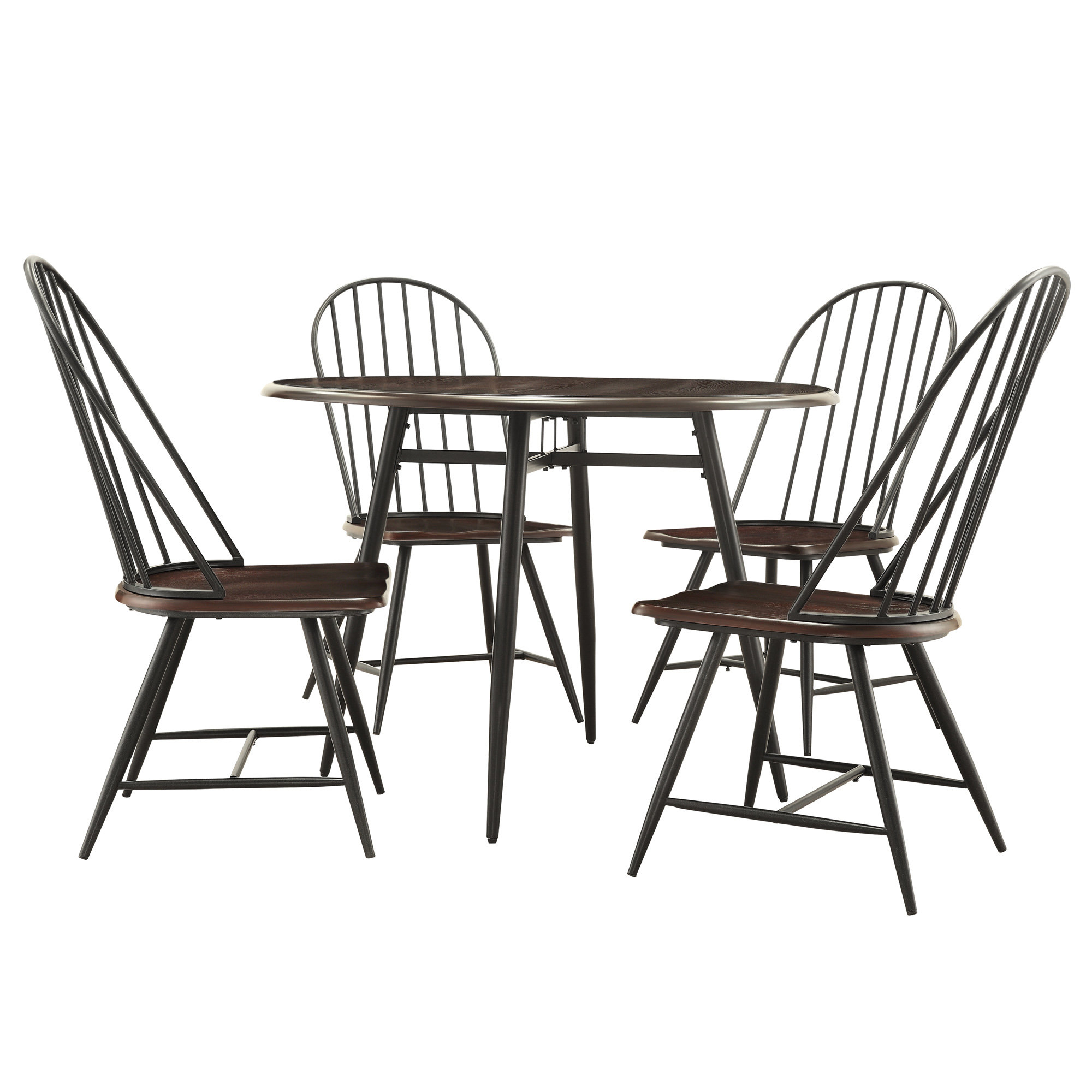 Inspiration about Recent Tejeda 5 Piece Dining Sets Throughout Hughley 5 Piece Dining Set (#15 of 20)