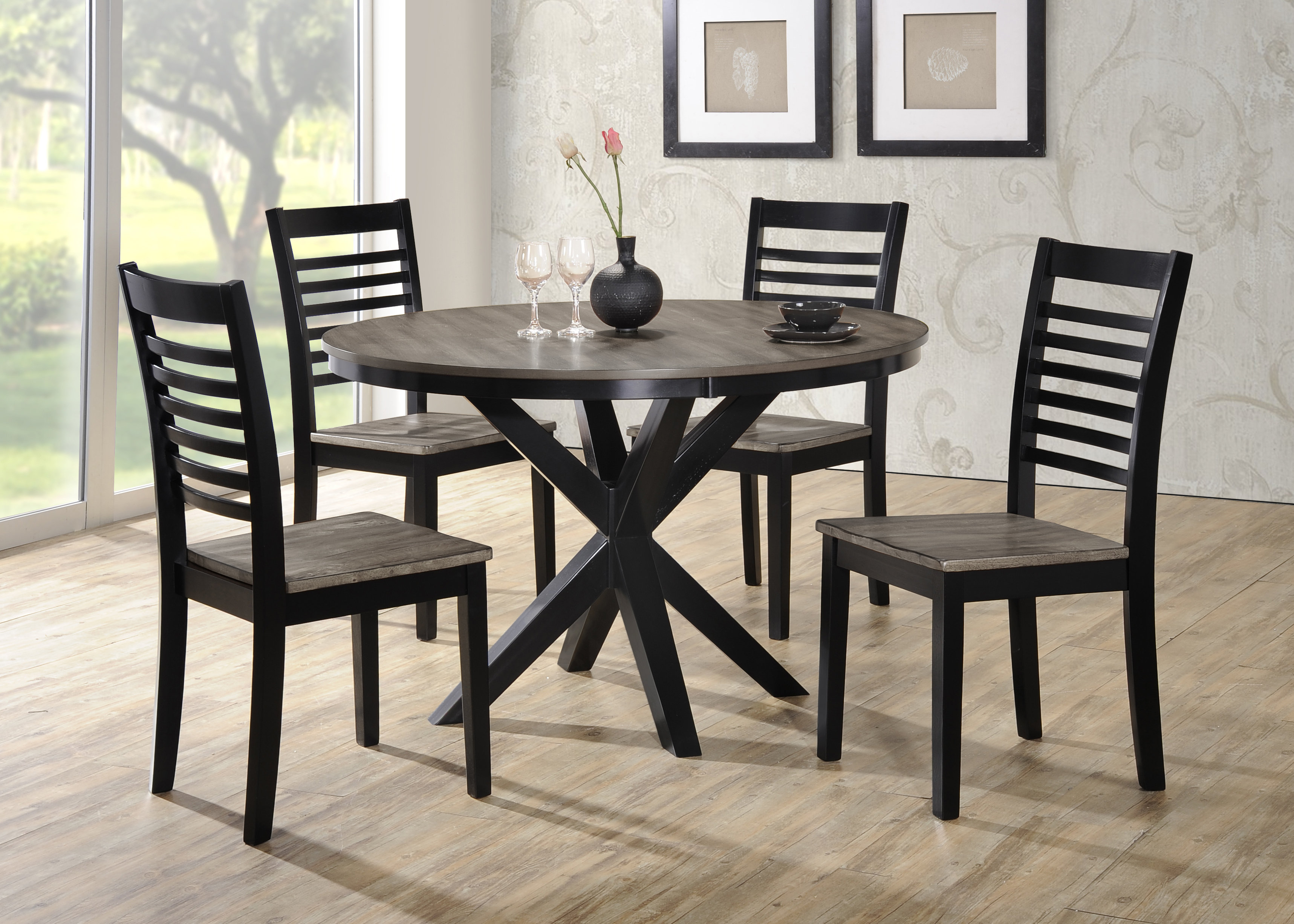 Red Barrel Studio Clipper City 5 Piece Dining Set & Reviews (#14 of 20)