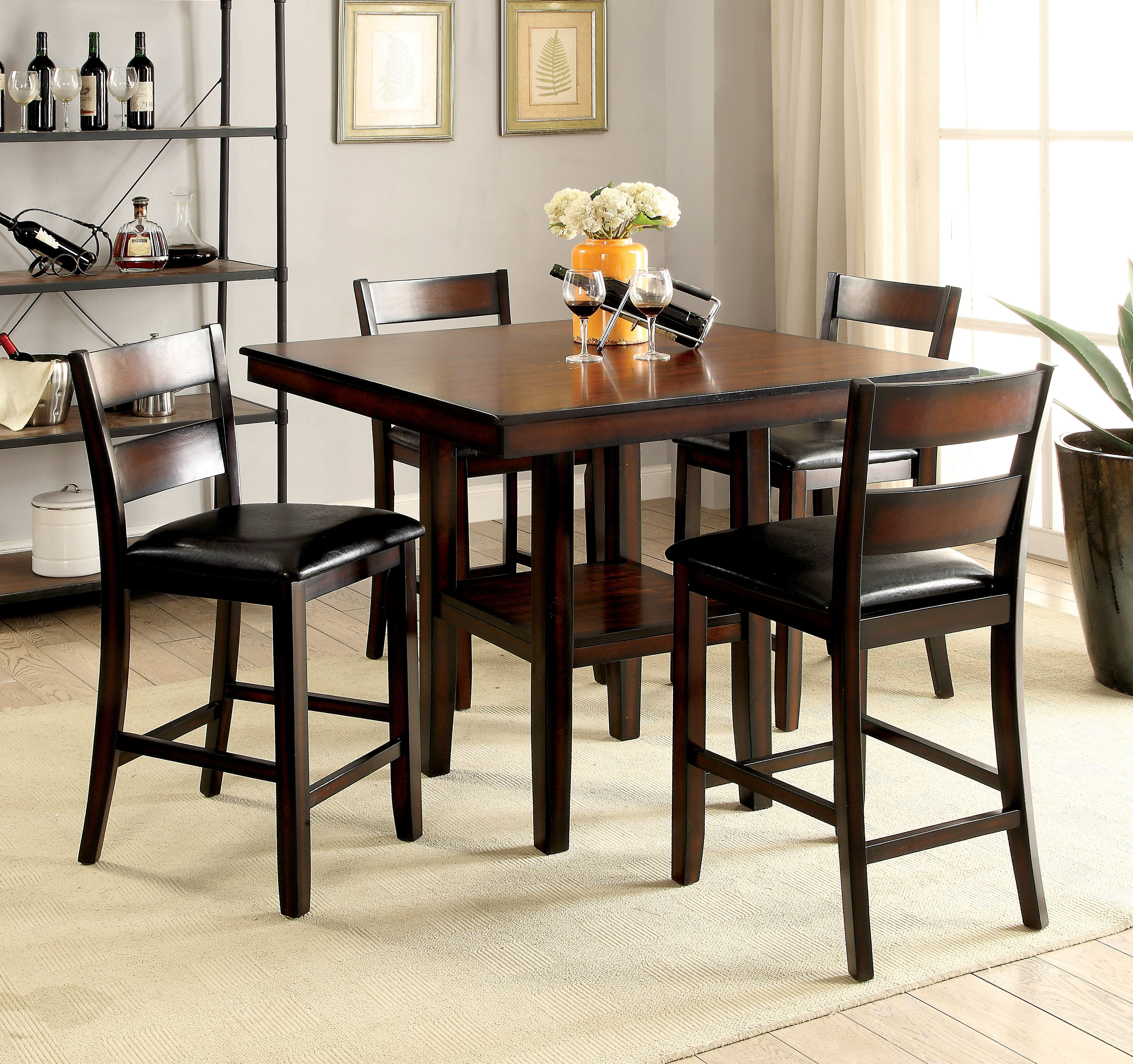 Inspiration about Red Barrel Studio Daphne 5 Piece Counter Height Dining Set & Reviews With Best And Newest Middleport 5 Piece Dining Sets (#19 of 20)