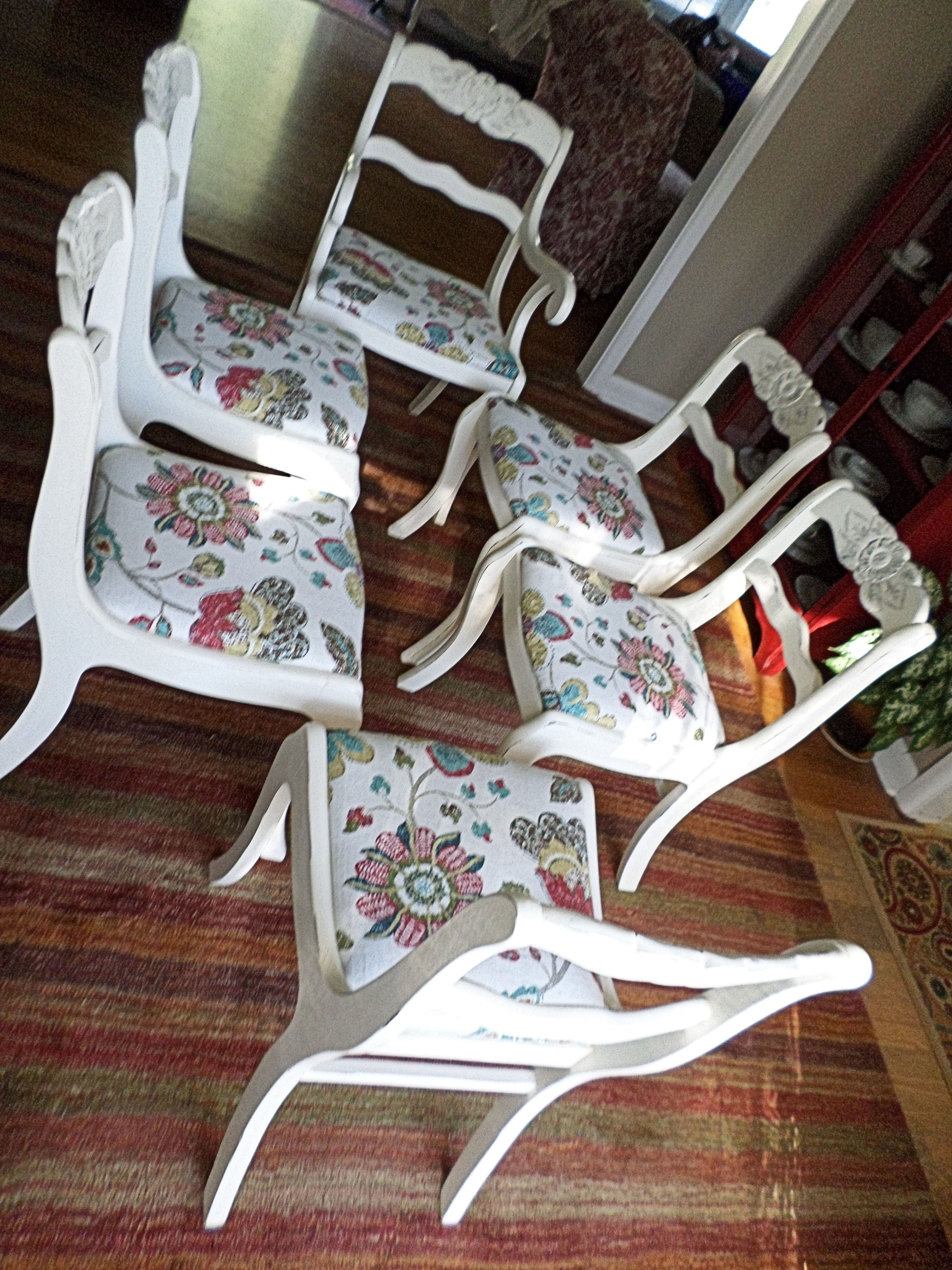 Inspiration about Reinert 5 Piece Dining Sets With Regard To Best And Newest Duncan Phyfe Style Dining Chairs Painted In Annie Sloan Old White (#17 of 20)