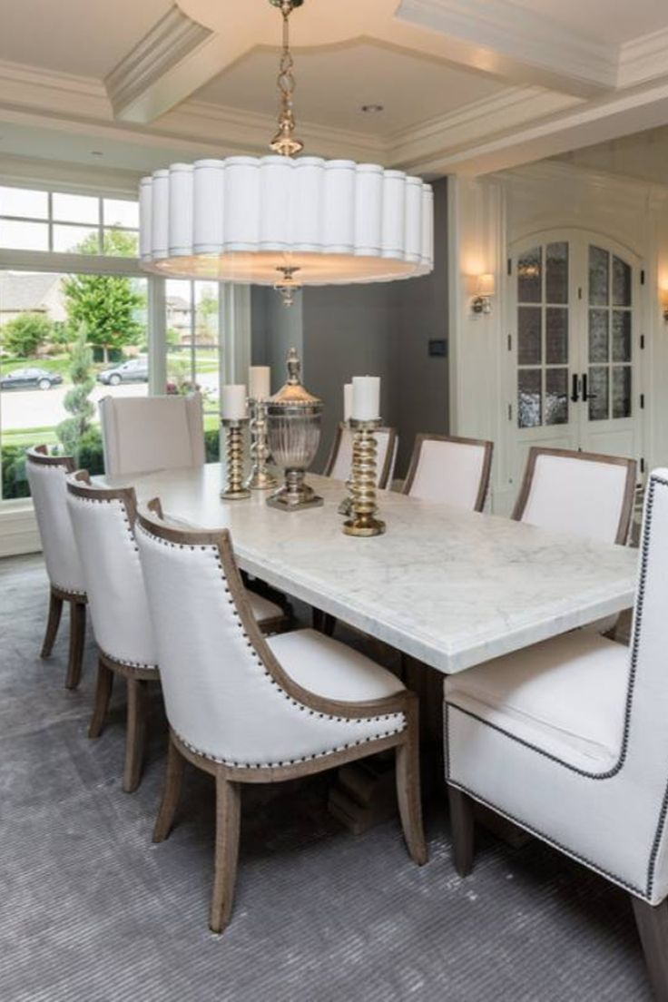 Inspiration about Room Redo: Classic Traditional Elegant Meghan Blum Dining Room In With Regard To Fashionable Linette 5 Piece Dining Table Sets (#3 of 20)