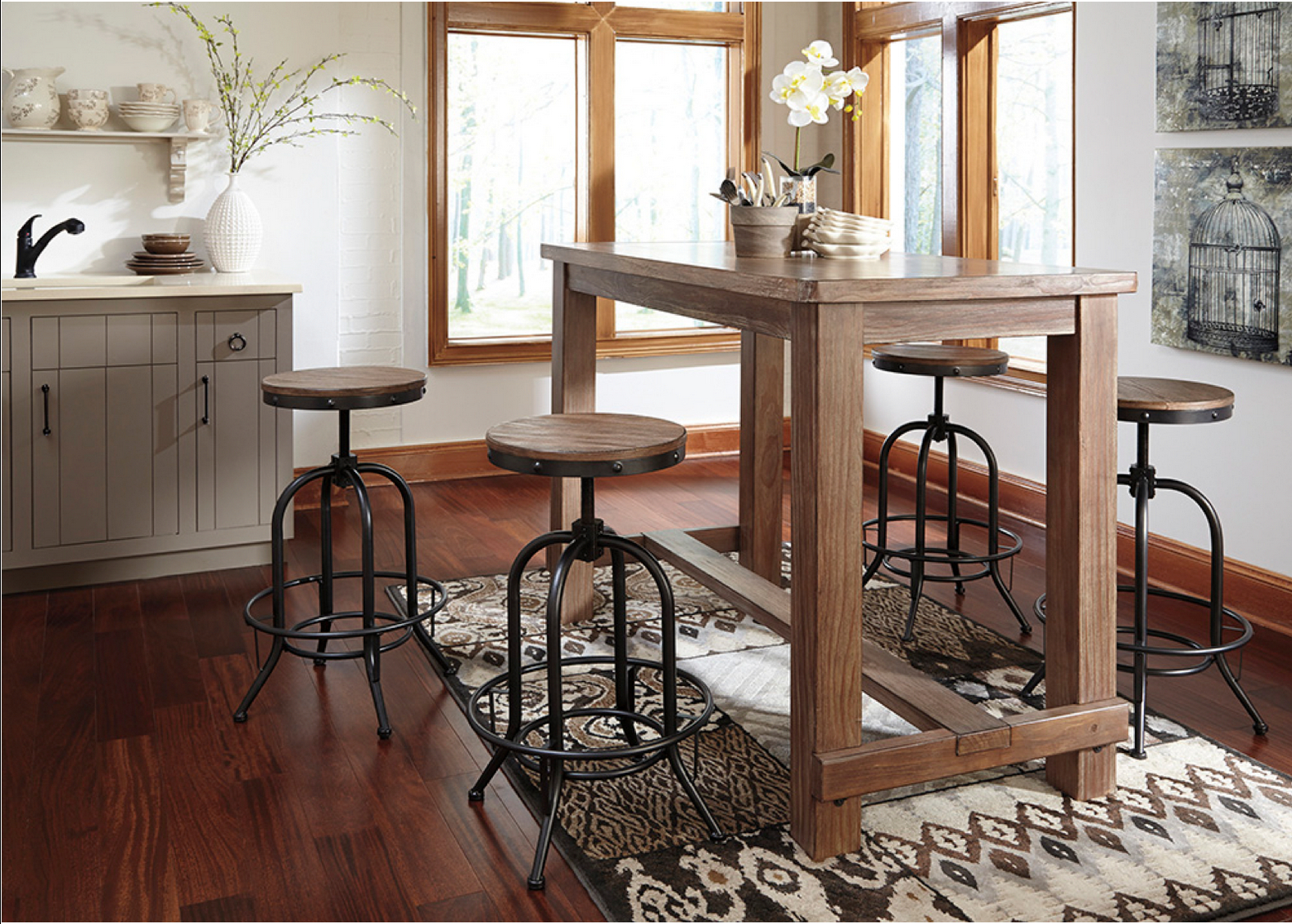Rustic Style 5 Piece Pub Set (View 5 of 20)