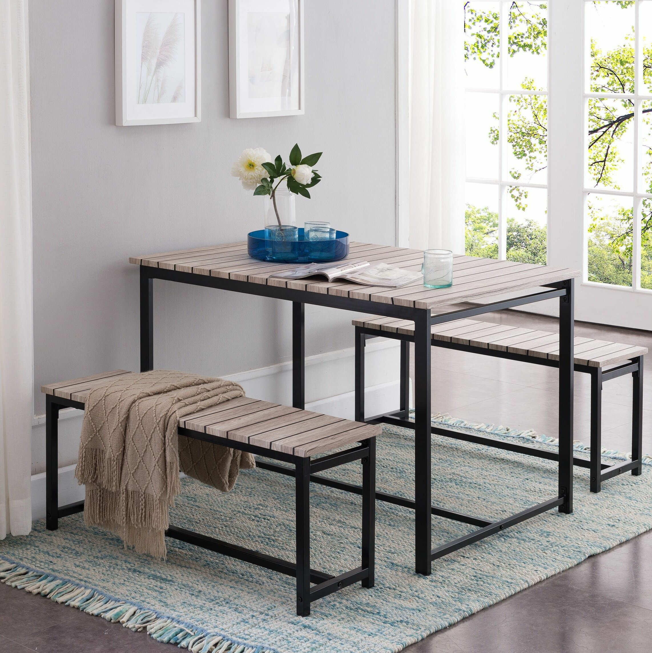 Inspiration about Ryker 3 Piece Dining Sets With Regard To Most Recent Union Rustic Templeton 3 Piece Dining Set (#8 of 20)