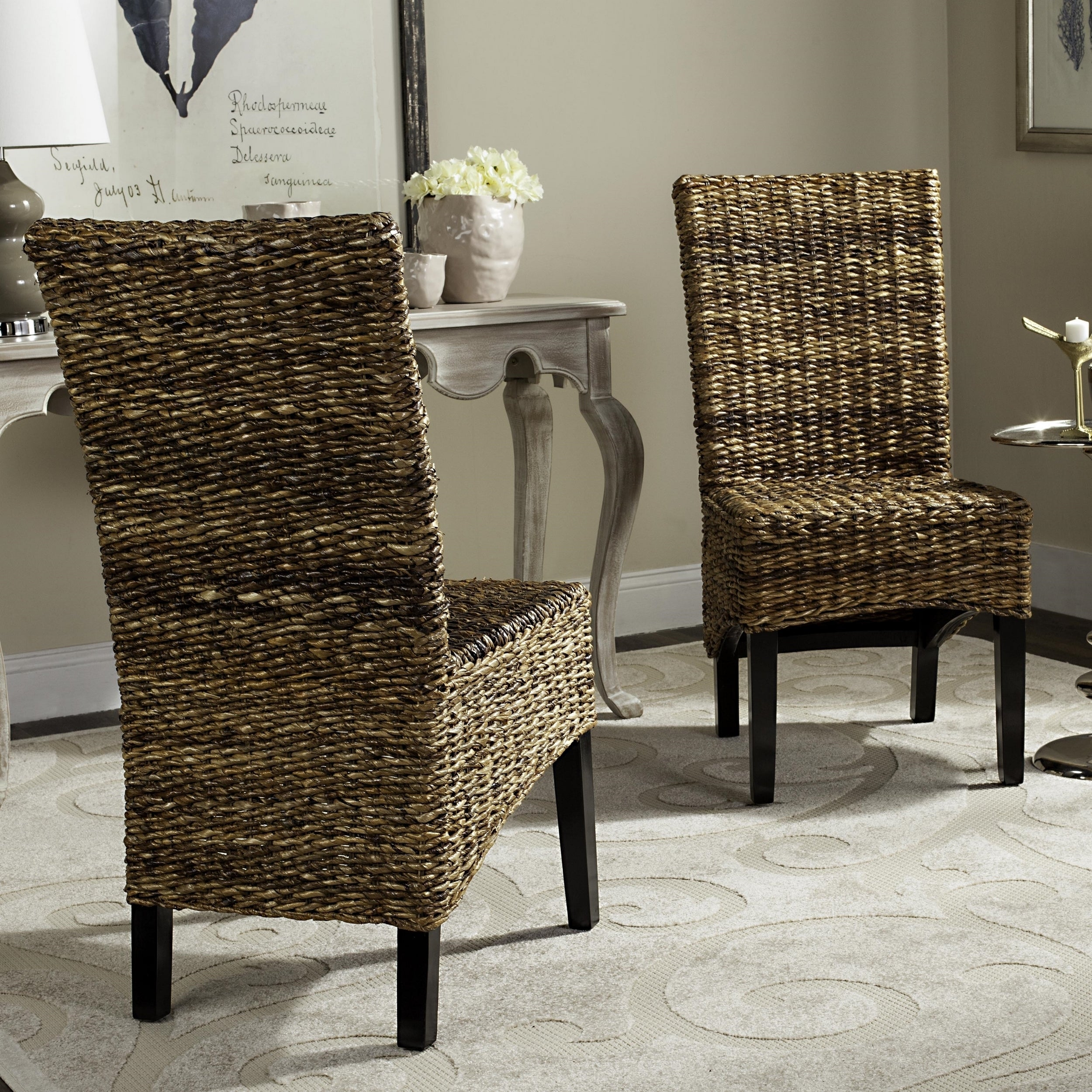 Saintcroix 3 Piece Dining Sets Regarding Favorite Shop Safavieh Dining Woven Wicker St (#18 of 20)