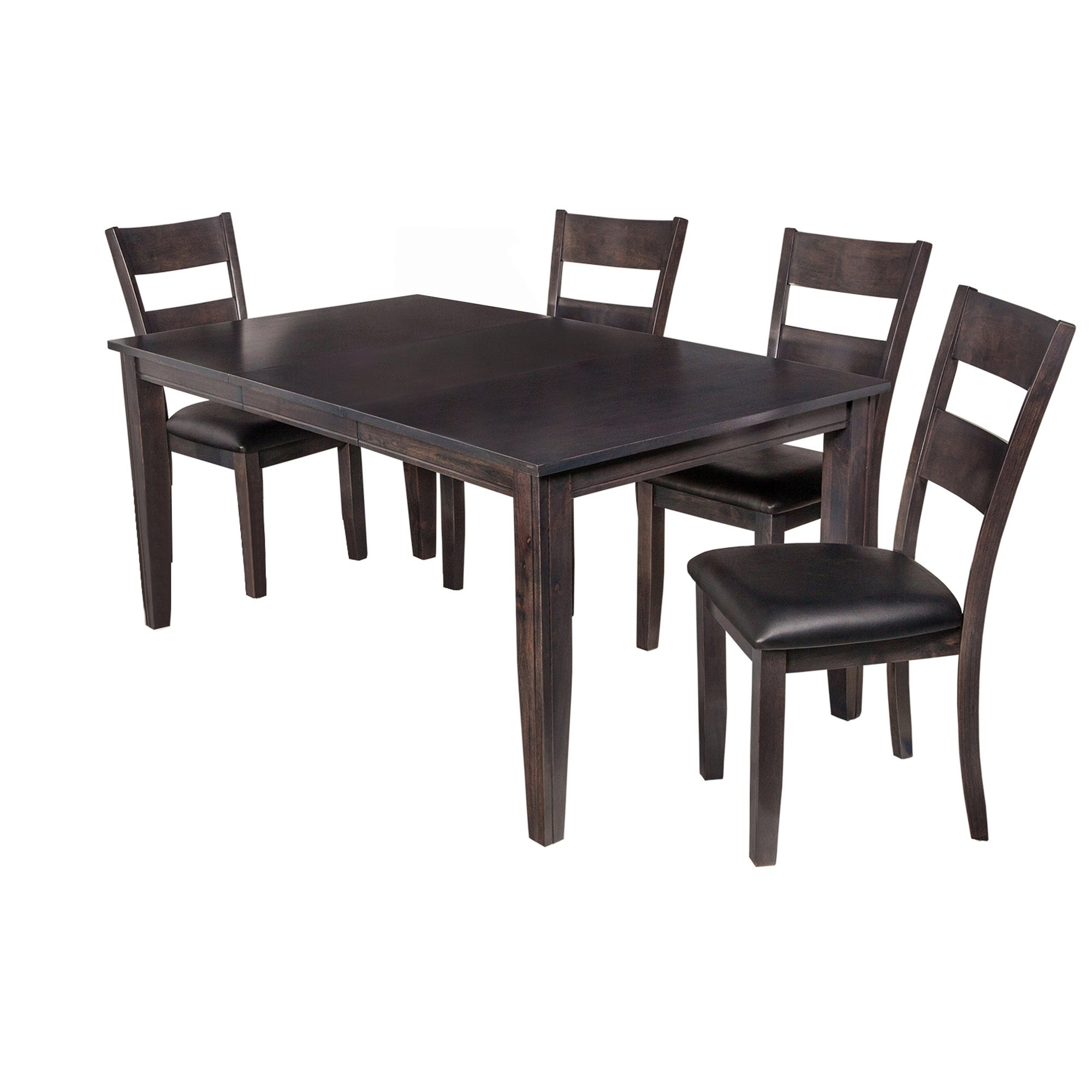 "Shop 5 Piece Solid Wood Dining Set ""aden"", Modern Kitchen Table Set Regarding Well Known Adan 5 Piece Solid Wood Dining Sets (Set Of 5) (#13 of 20)"