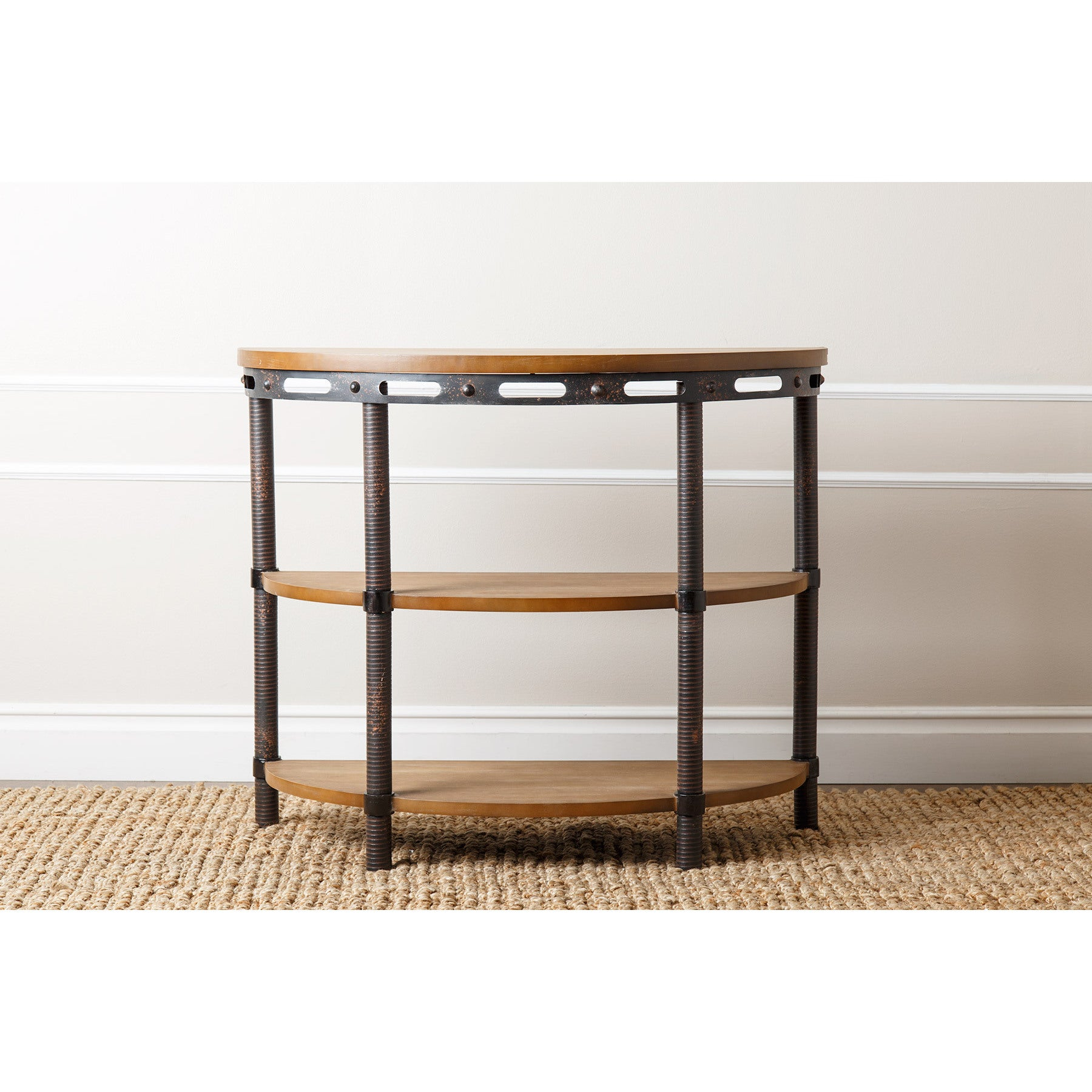 Shop Abbyson Northwood Industrial Rustic Console Table – Free For Trendy Northwoods 3 Piece Dining Sets (#15 of 20)