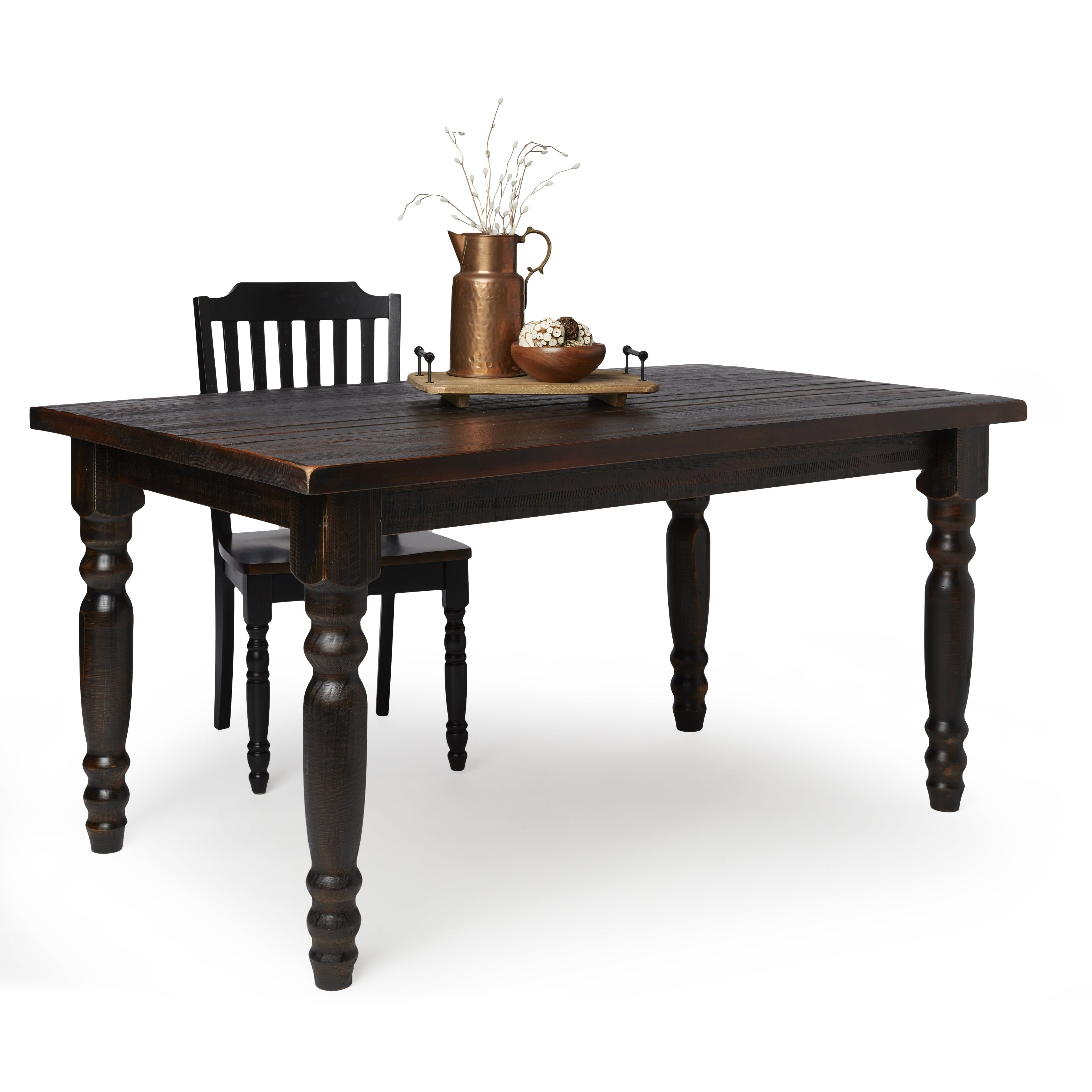 Shop Grain Wood Furniture Valerie 63 Inch Solid Wood Dining Table For Current Evellen 5 Piece Solid Wood Dining Sets (Set Of 5) (#10 of 20)