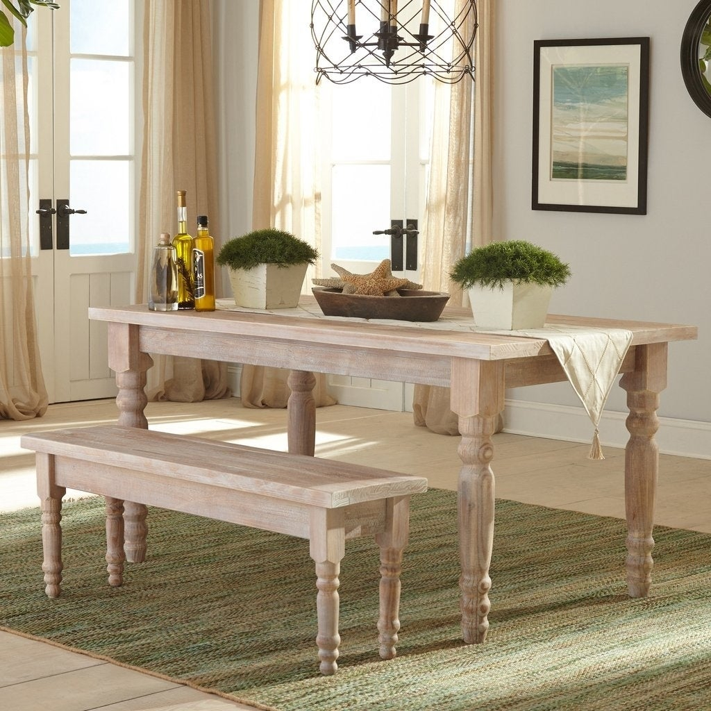 Shop Grain Wood Furniture Valerie 63 Inch Solid Wood Dining Table In Favorite Evellen 5 Piece Solid Wood Dining Sets (Set Of 5) (#11 of 20)