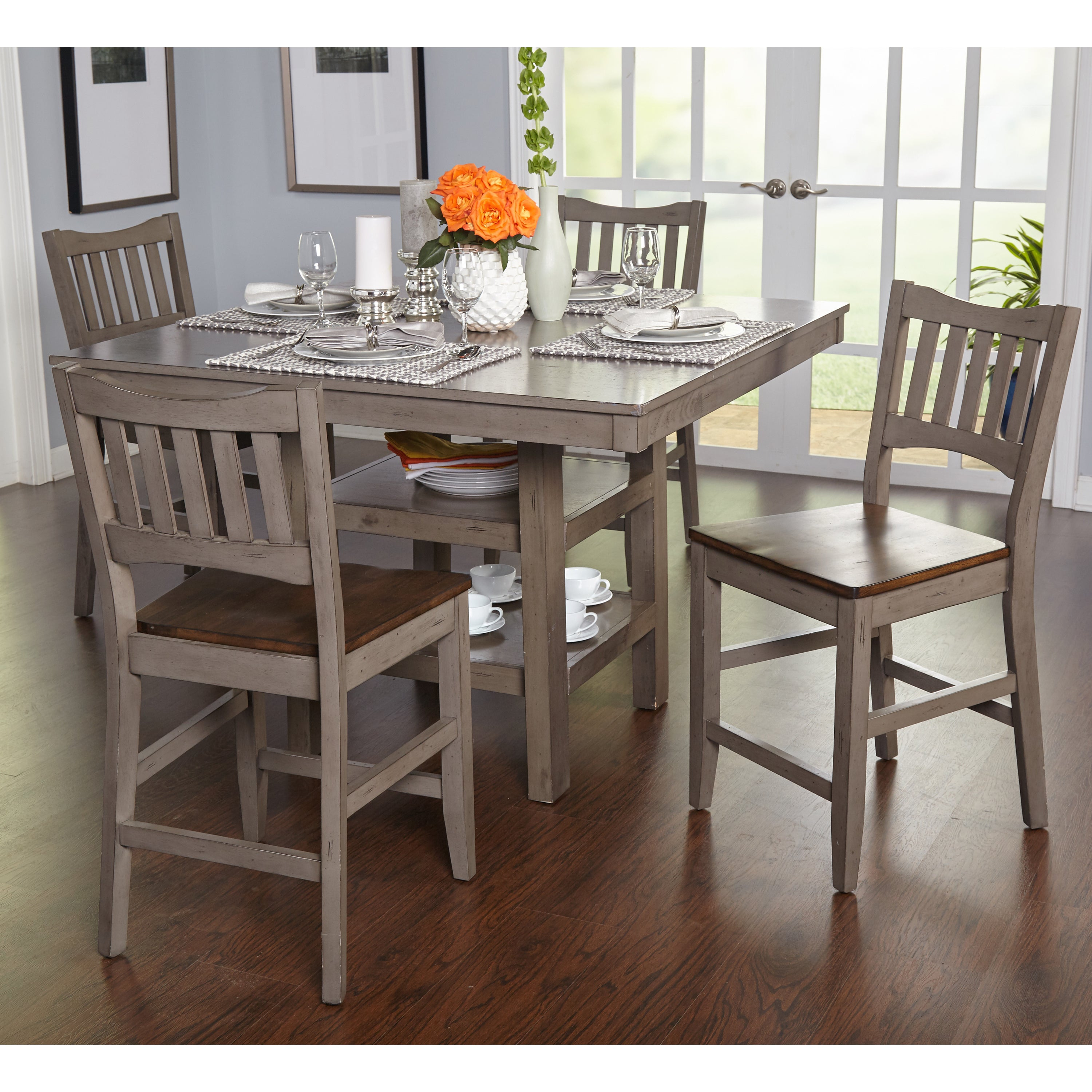 Shop Simple Living Simon Counter Height 5 Piece Dining Set – Free With Regard To Newest 5 Piece Dining Sets (#16 of 20)