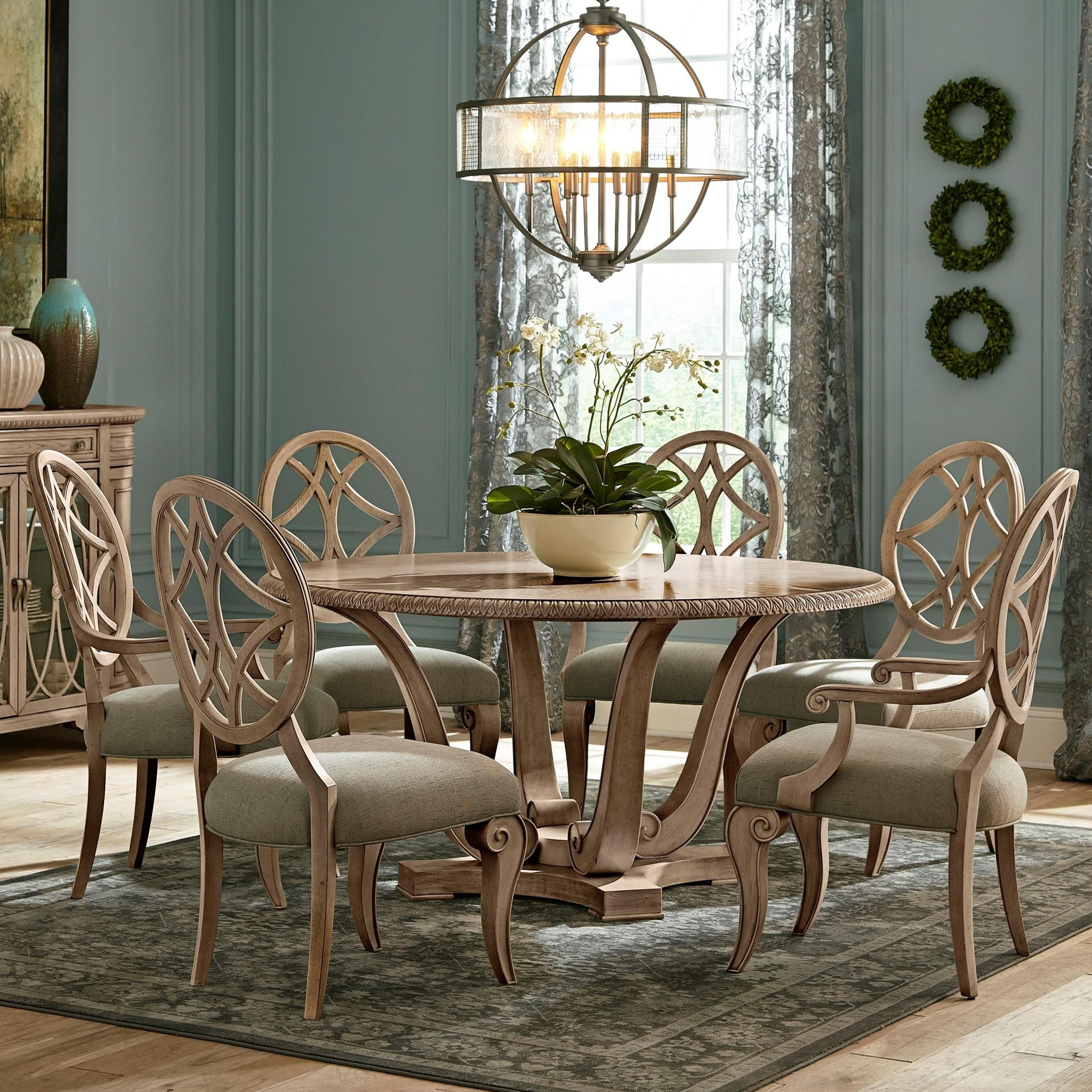 Smyrna 3 Piece Dining Sets For Well Known Trisha Yearwood Home Collectionklaussner Jasper County Seven (View 18 of 20)