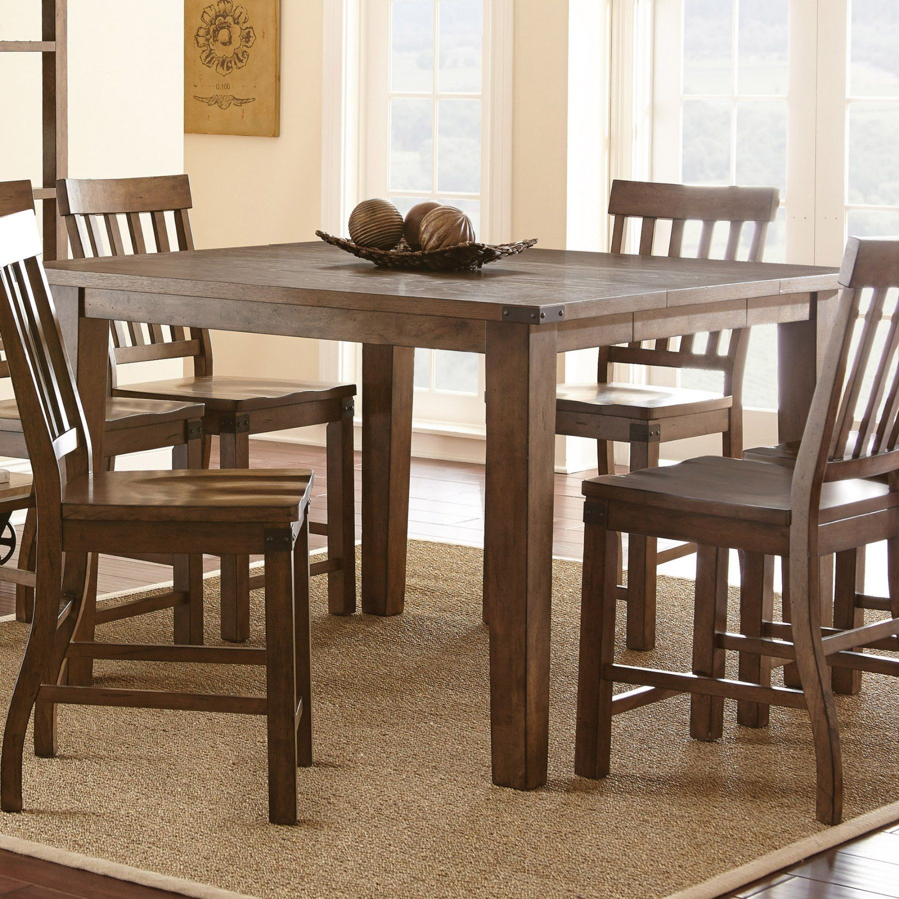 Smyrna 3 Piece Dining Sets With Favorite Steve Silver Hailee Counter Height Dining Table – Ha700pt (View 13 of 20)