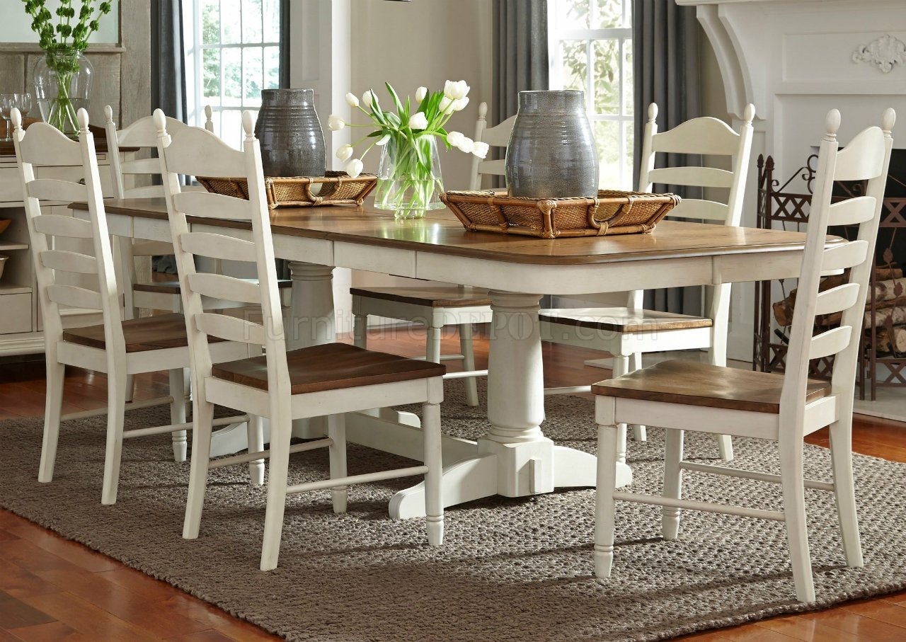 Springfield 3 Piece Dining Sets Inside Recent Springfield Dining 278 Cd Ps 7pc Set In Honey & Creamliberty (View 6 of 20)