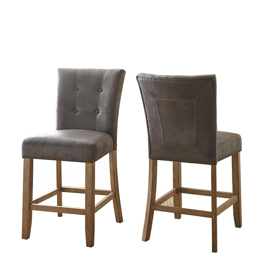 Steve Silver Company Debby Counter Chair Grey (Set Of 2) Db650Cc For Well Known Debby Small Space 3 Piece Dining Sets (#16 of 20)